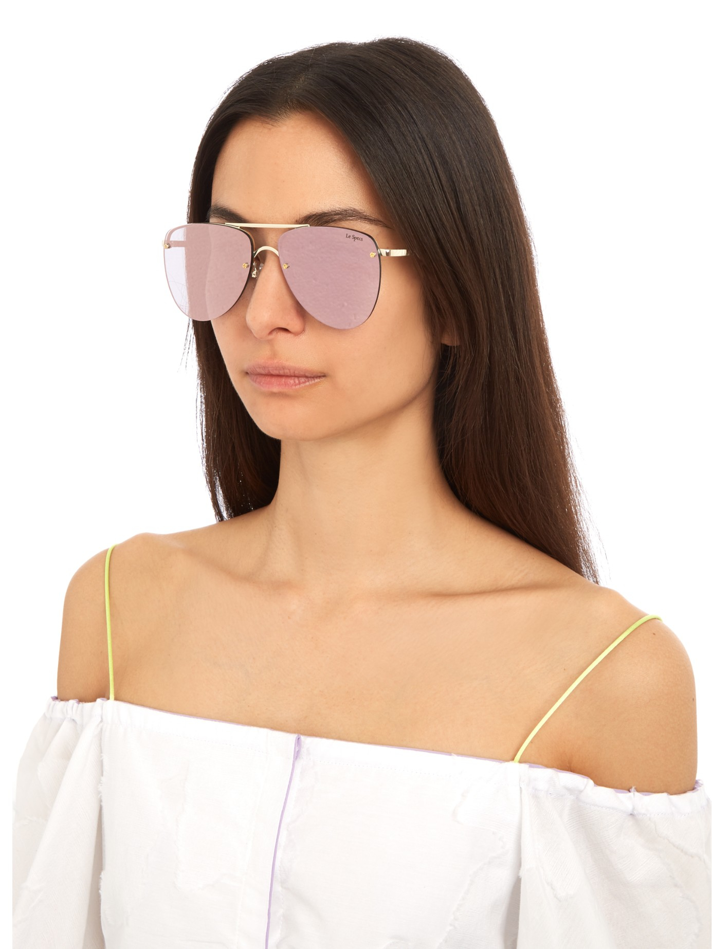 2e252fe5257 Le Specs The Prince Aviator Sunglasses in Pink - Lyst