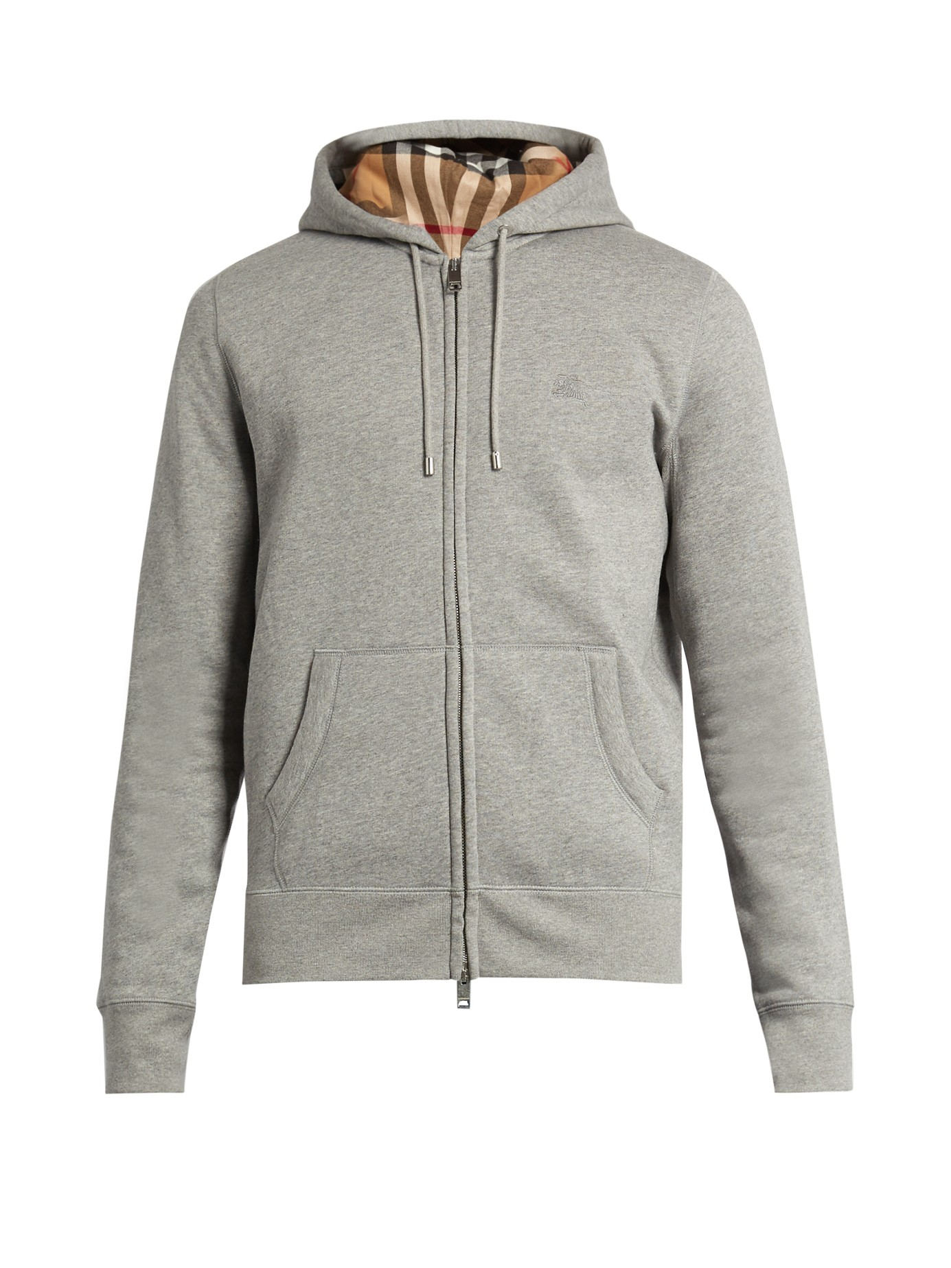 Lyst Burberry Brit Cotton Hoody In Gray For Men