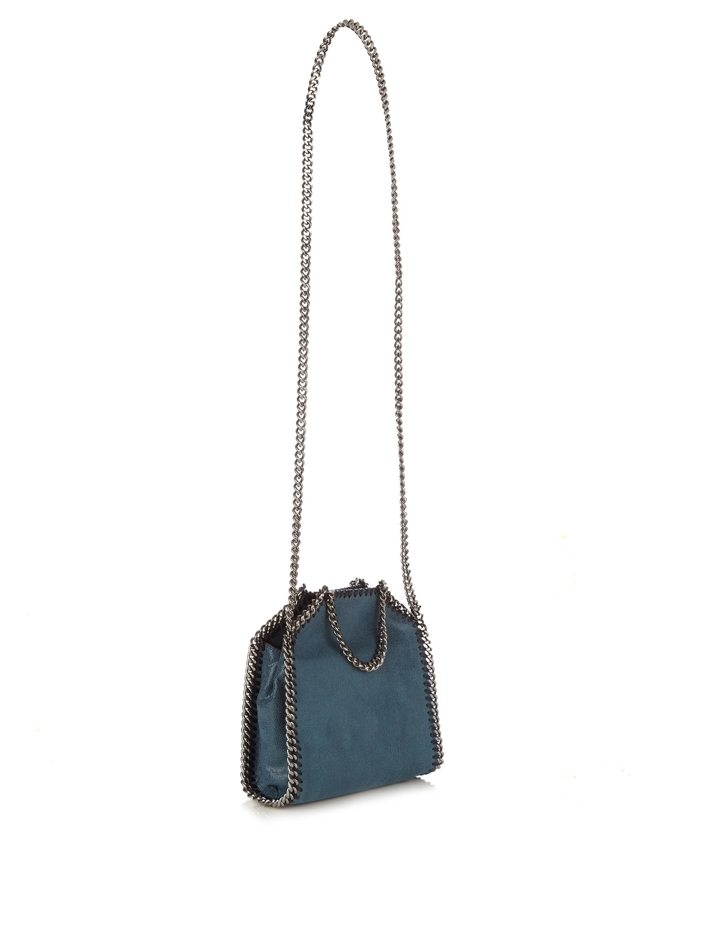 lyst stella mccartney falabella small shoulder bag black in blue. Black Bedroom Furniture Sets. Home Design Ideas