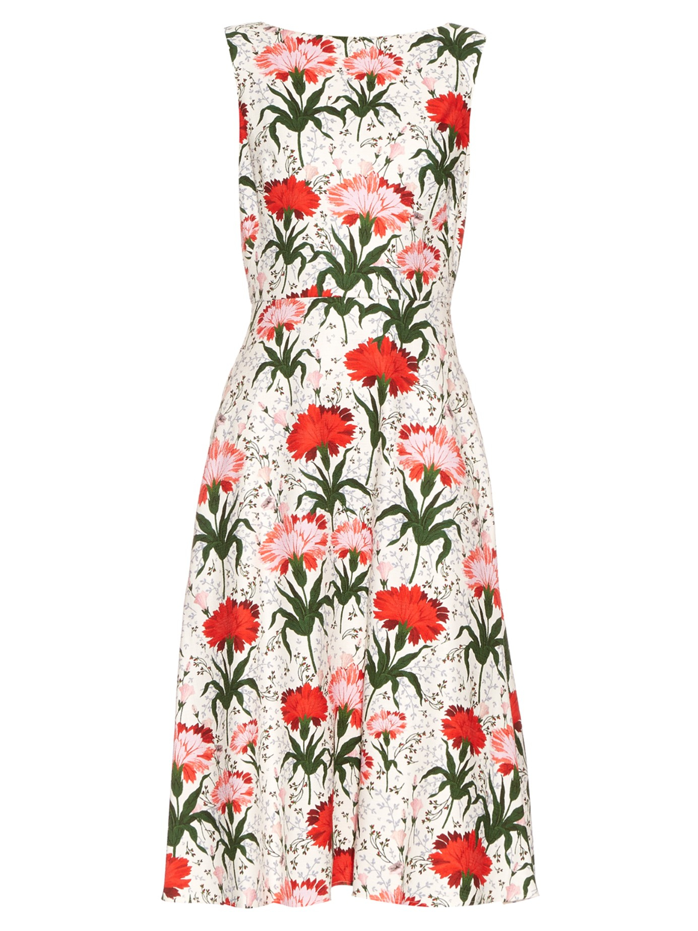 Maia Floral-print Cotton-poplin Dress - White Erdem 45wwKDG