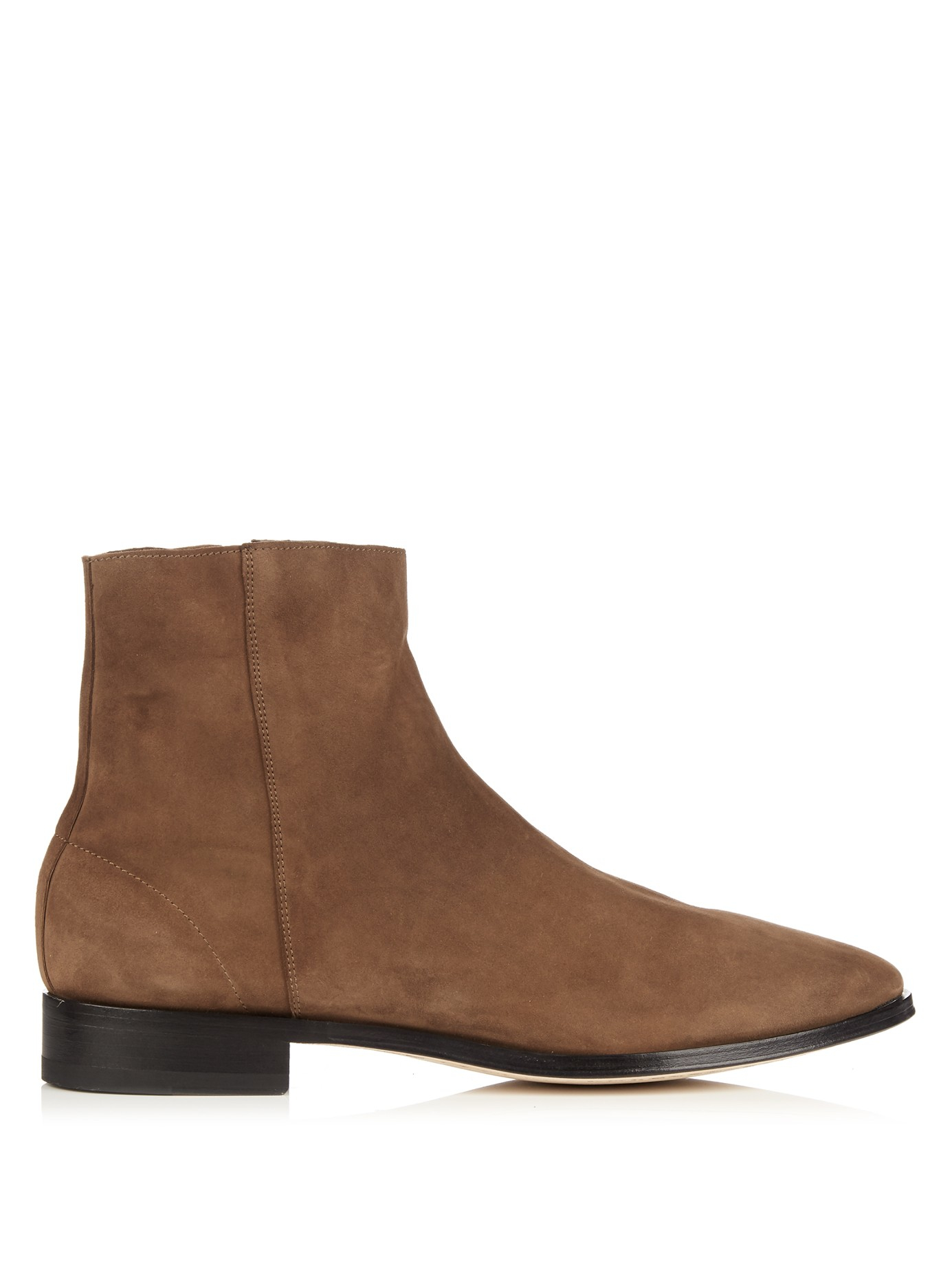 Paul smith James Soft-suede Side-zip Boots in Brown for ...