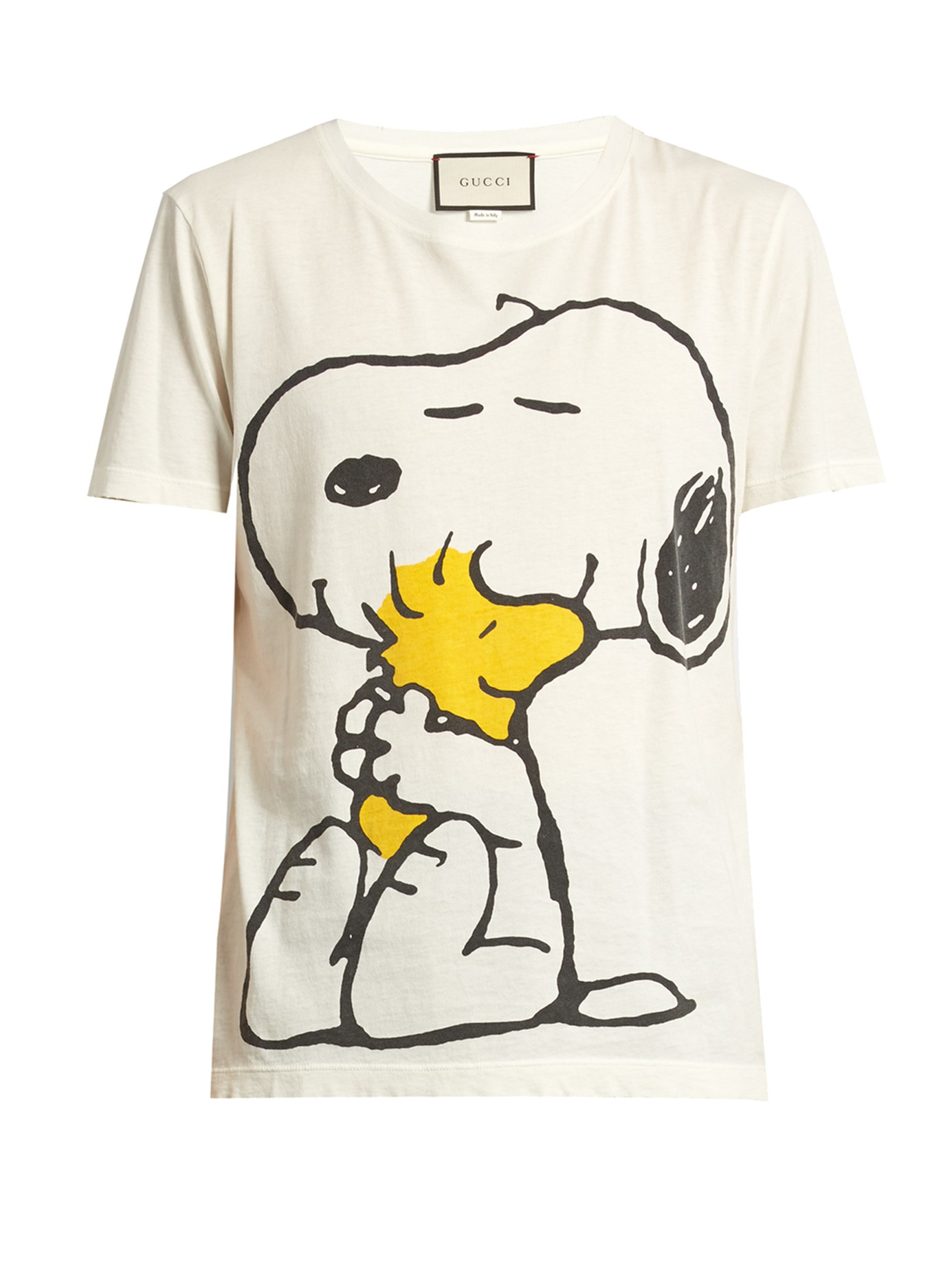 448394f5db31bc Gucci Snoopy And Woodstock-print Cotton T-shirt for Men - Lyst