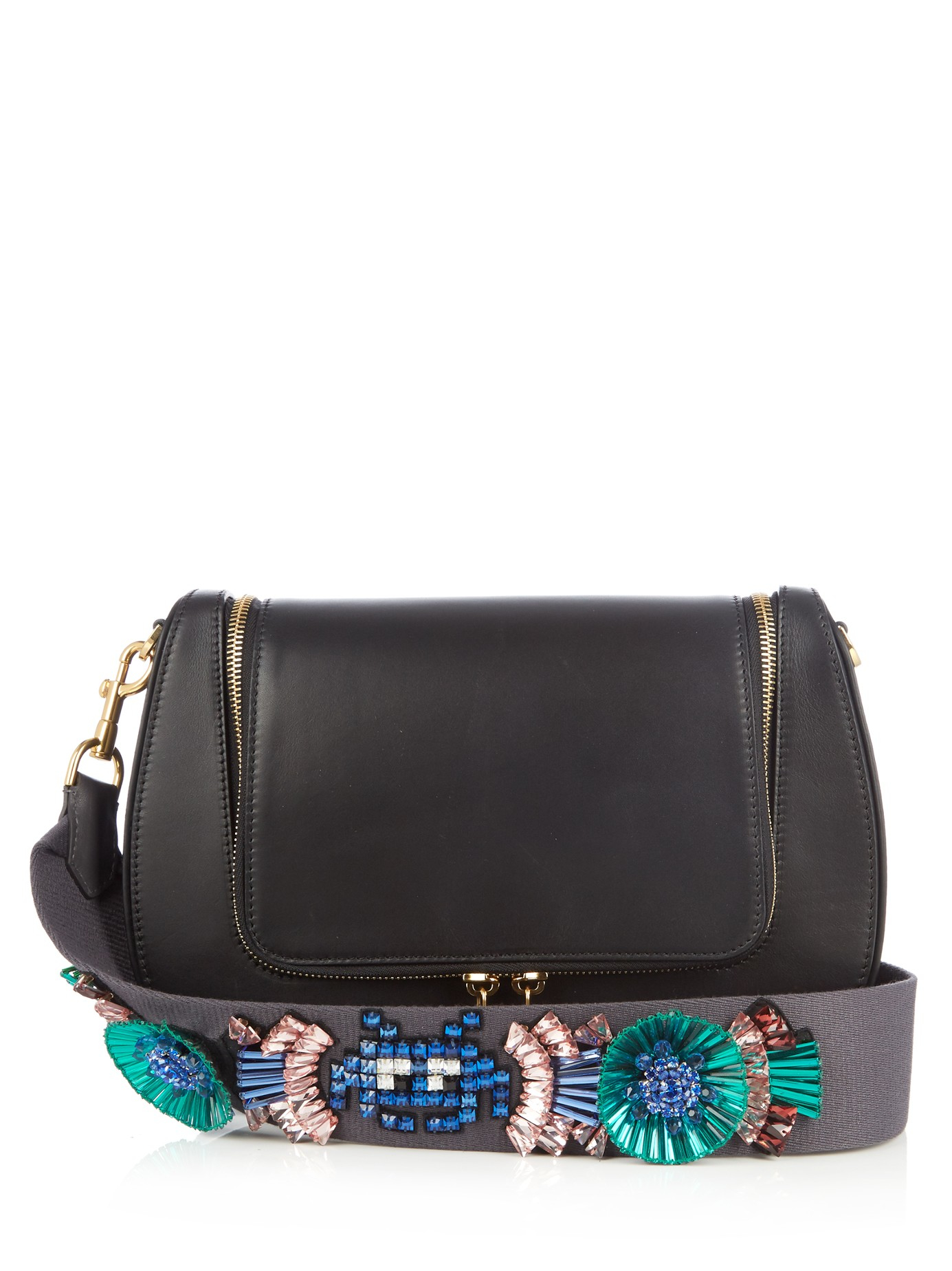 e73cf946ccf Lyst - Anya Hindmarch Space Invaders Vere Leather Cross-body Bag in ...