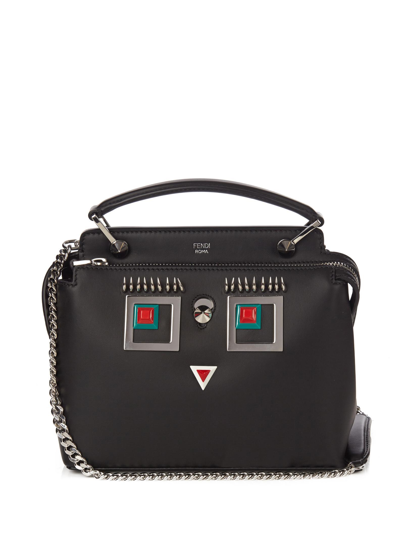 ccf448486fcb Fendi Dotcom Mini Square Eyes Shoulder Bag in Black - Lyst