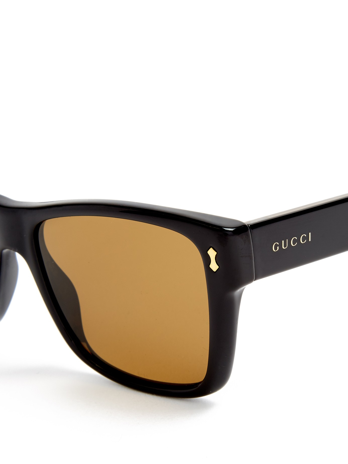 2b37ab3ece Lyst - Gucci Rectangular-frame Acetate Sunglasses in Black for Men