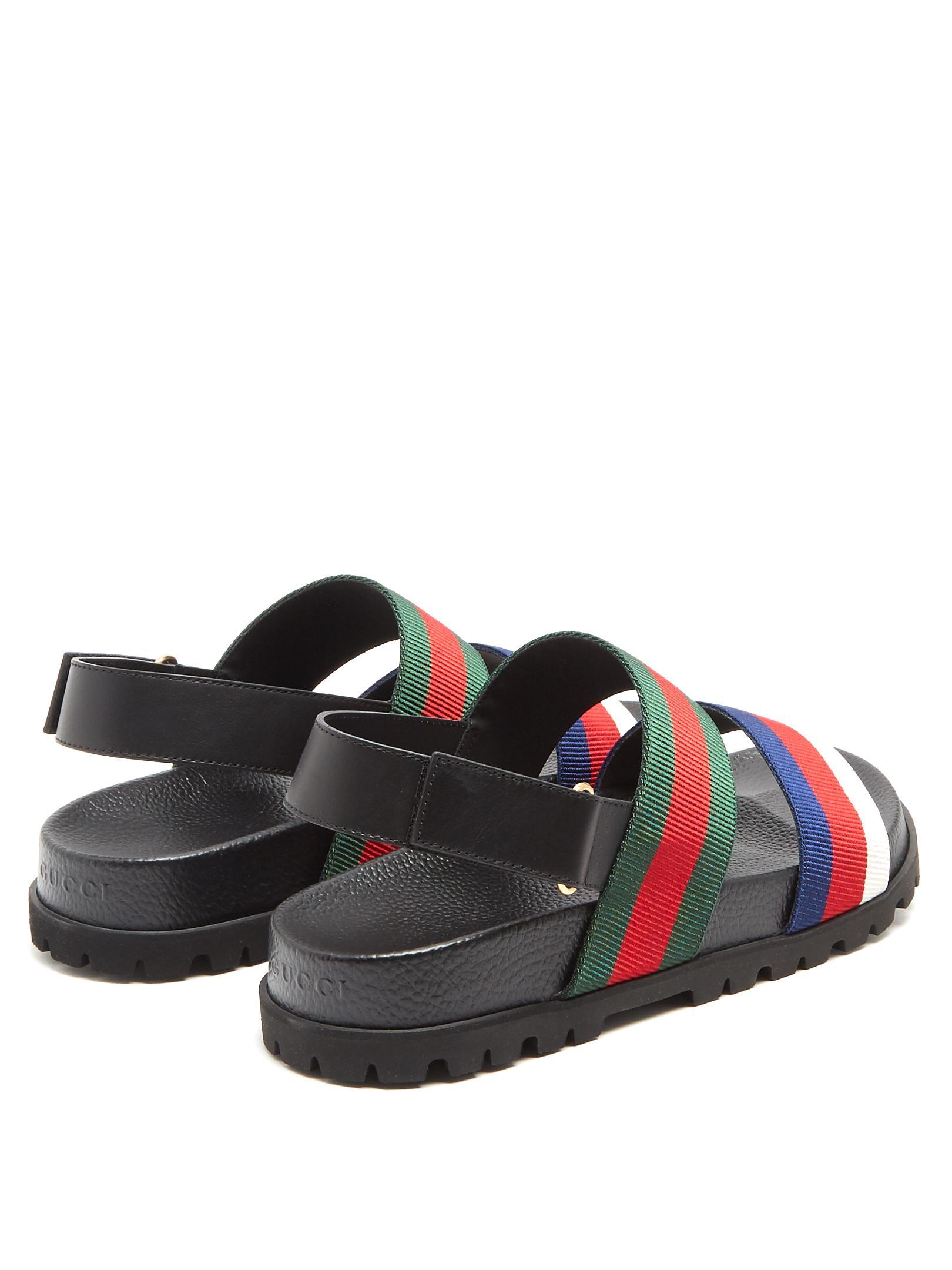 b6c6cf2c51dc84 Gucci Rimini Striped Sandals for Men - Lyst
