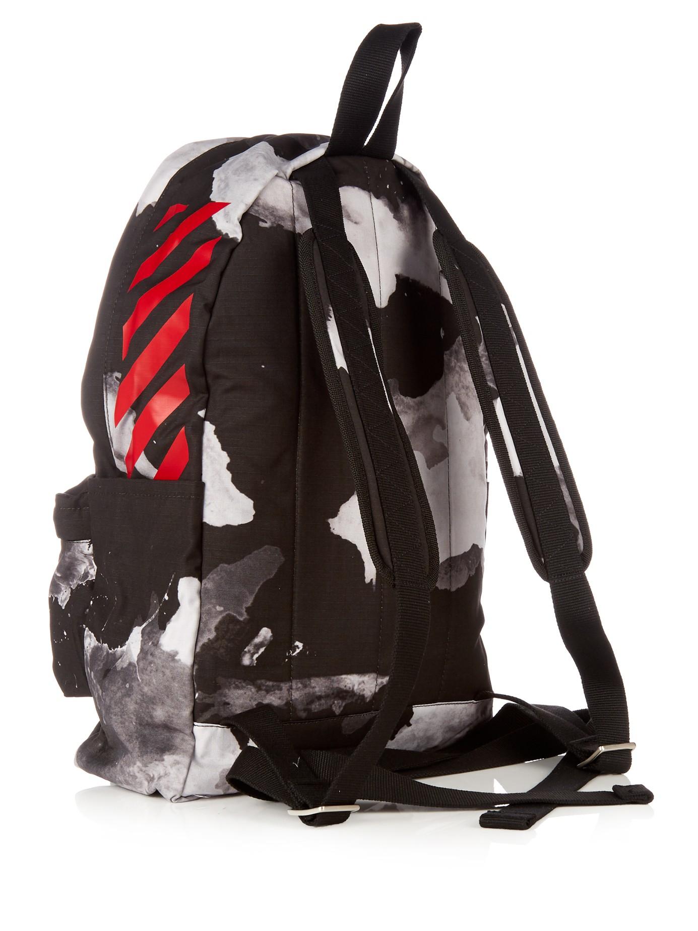Off-White c o Virgil Abloh Liquid Spot And Logo-print Backpack in ... 9cf5d372cba9e