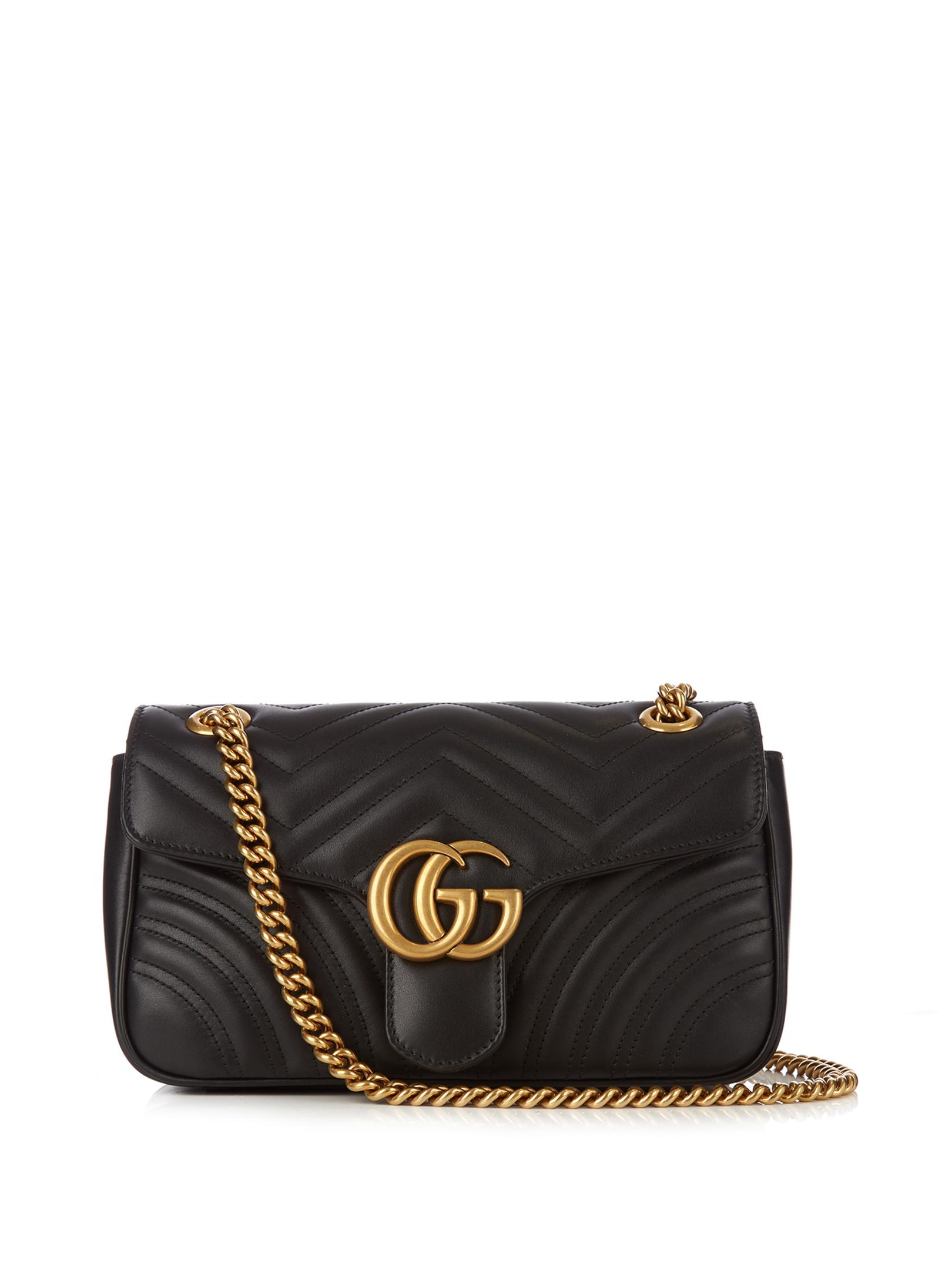 Gucci Gg Marmont Small Quilted-leather Bag in Black | Lyst Robert Graham Designer
