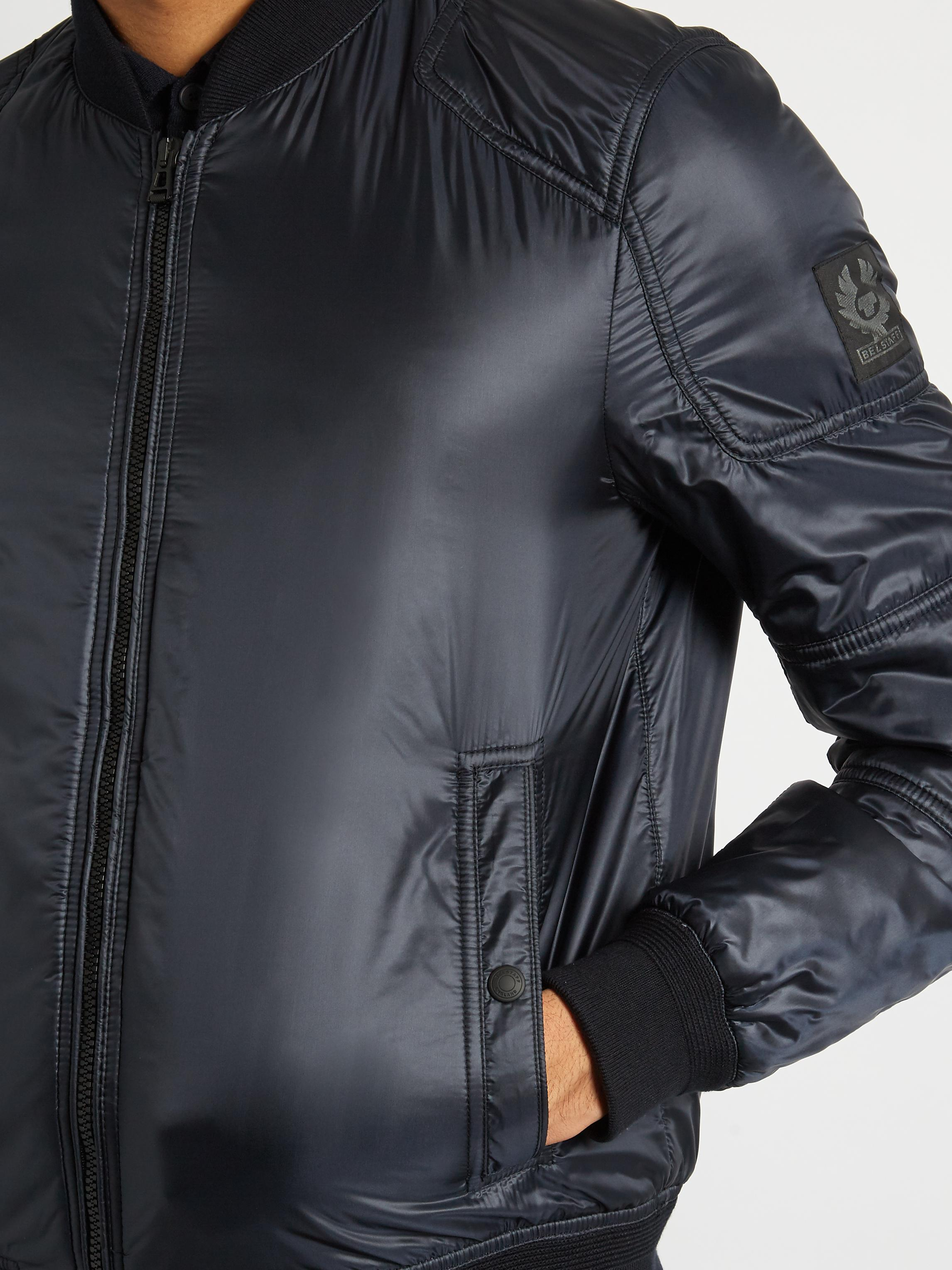 601030adc54 Belstaff Stonefield Nylon Bomber Jacket in Blue for Men - Lyst