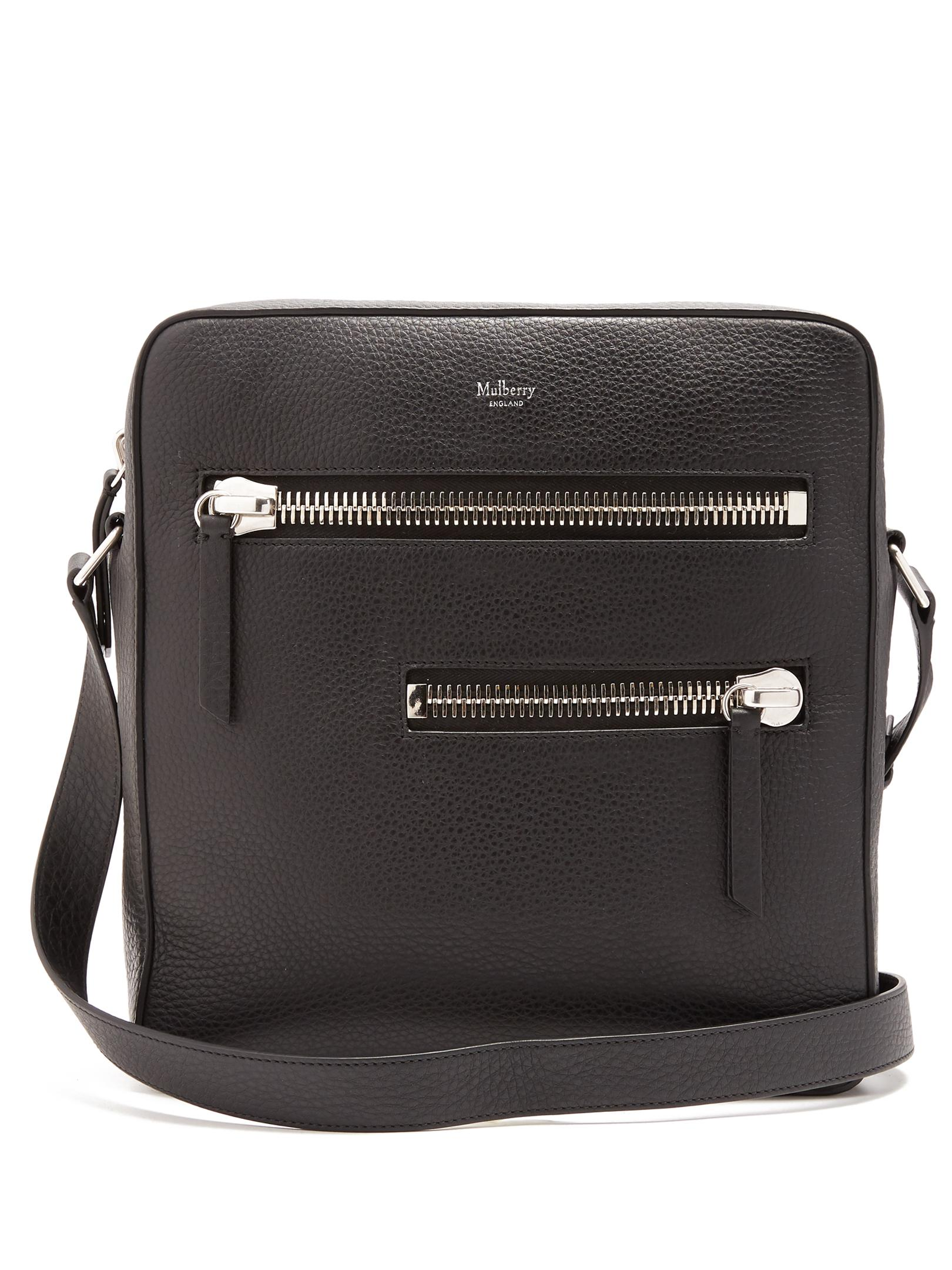 be0647cbb863 ... coupon for lyst mulberry kenrick leather messenger bag in black for men  e2a6b 97b68