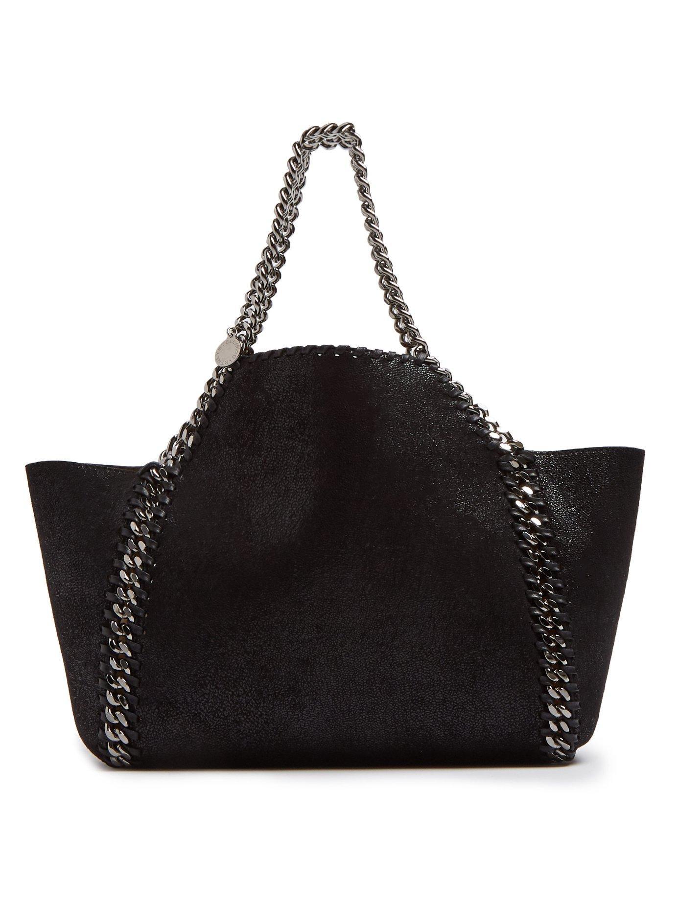 8b508bfd5fce Stella McCartney. Women s Black Falabella Mini Reversible Faux Leather Tote  Bag