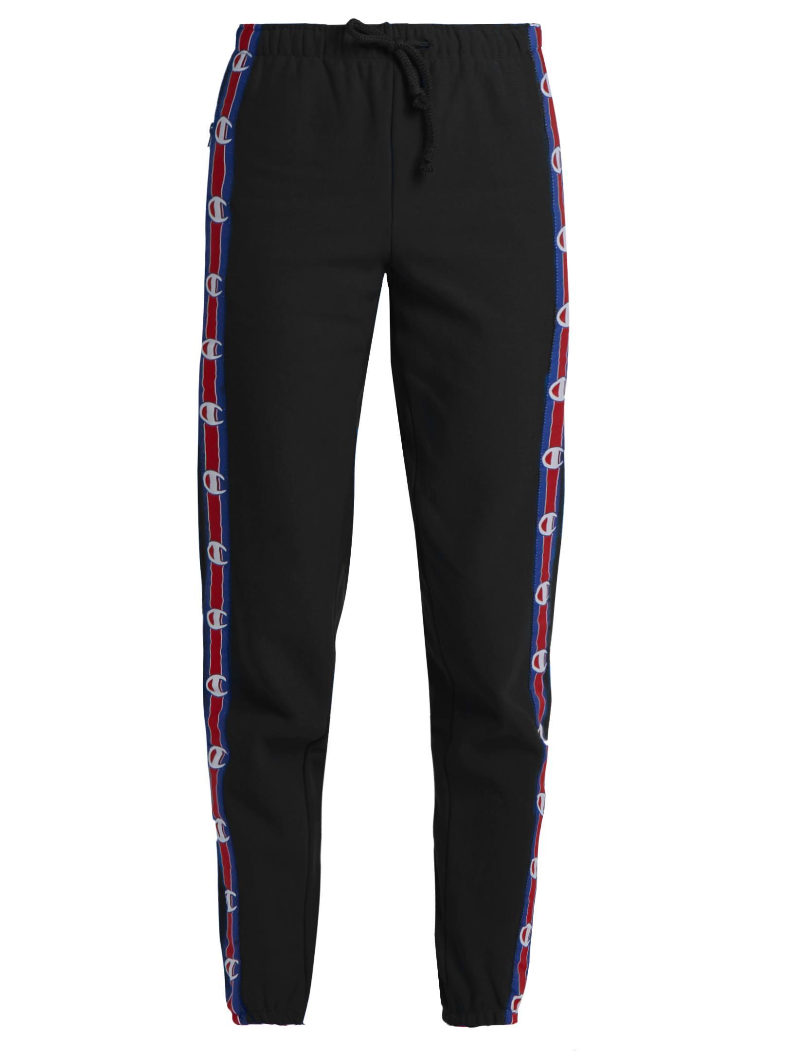 Vetements X Champion Cotton-blend Track Pants in Black
