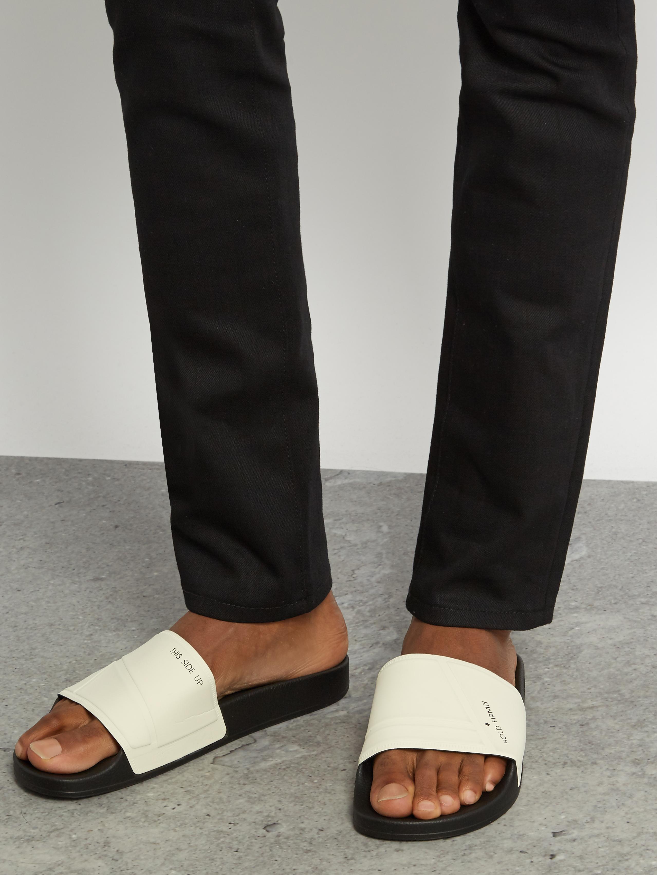 fc94c95126a2 Lyst - adidas By Raf Simons Bunny Adilette Pool Slides in Black for Men