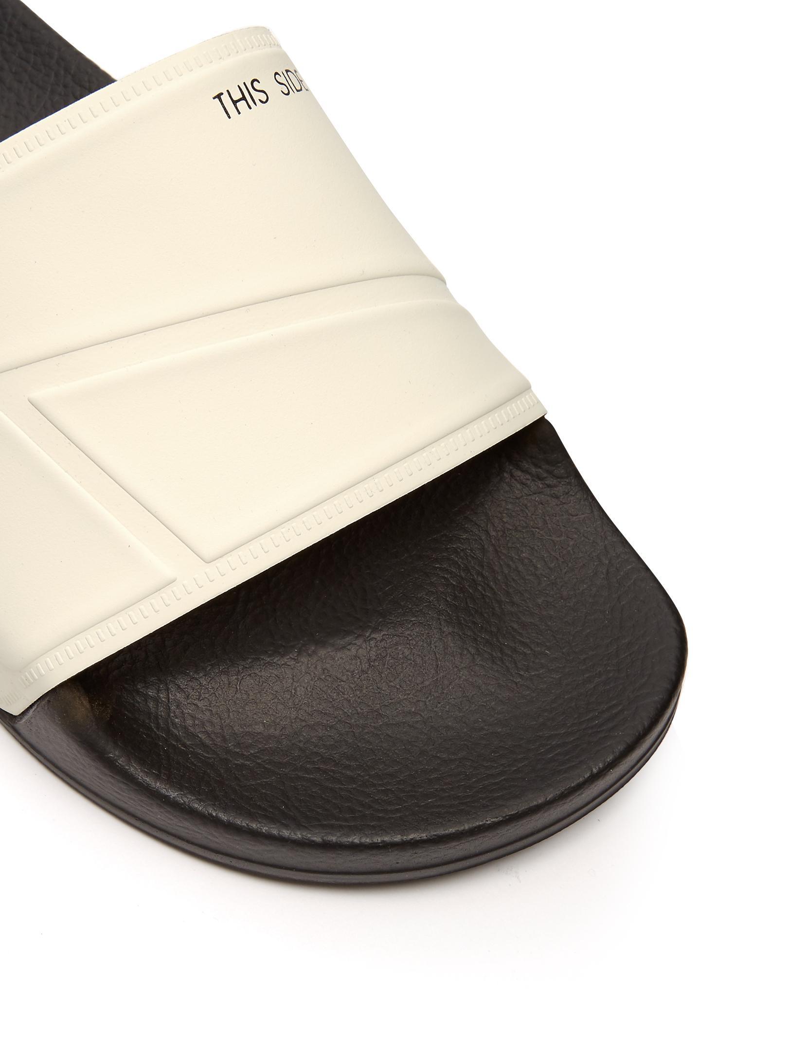 4eb628b5a258e Lyst - adidas By Raf Simons Bunny Adilette Pool Slides in Black for Men