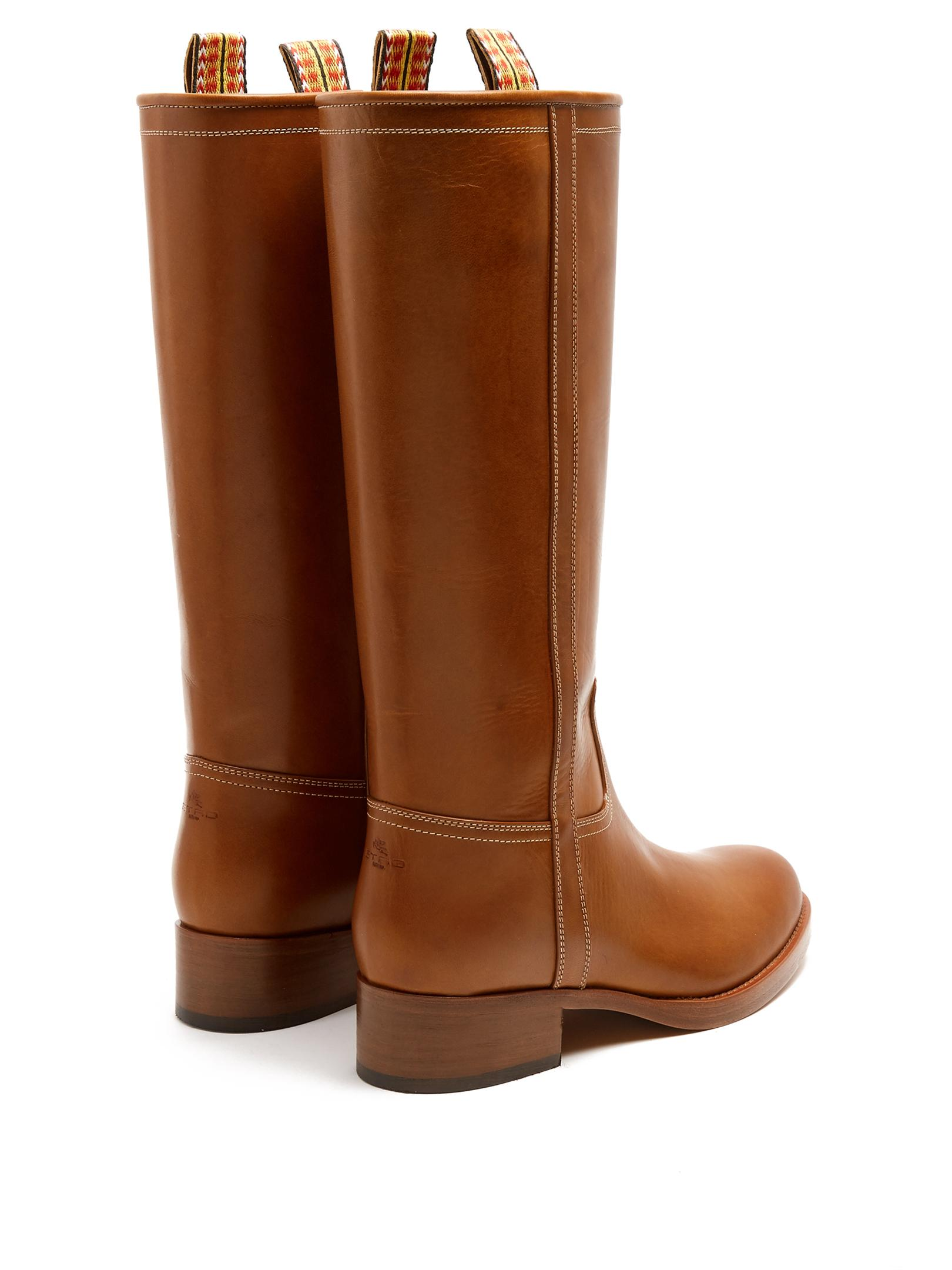 Etro Leather Knee-high Boots in Brown