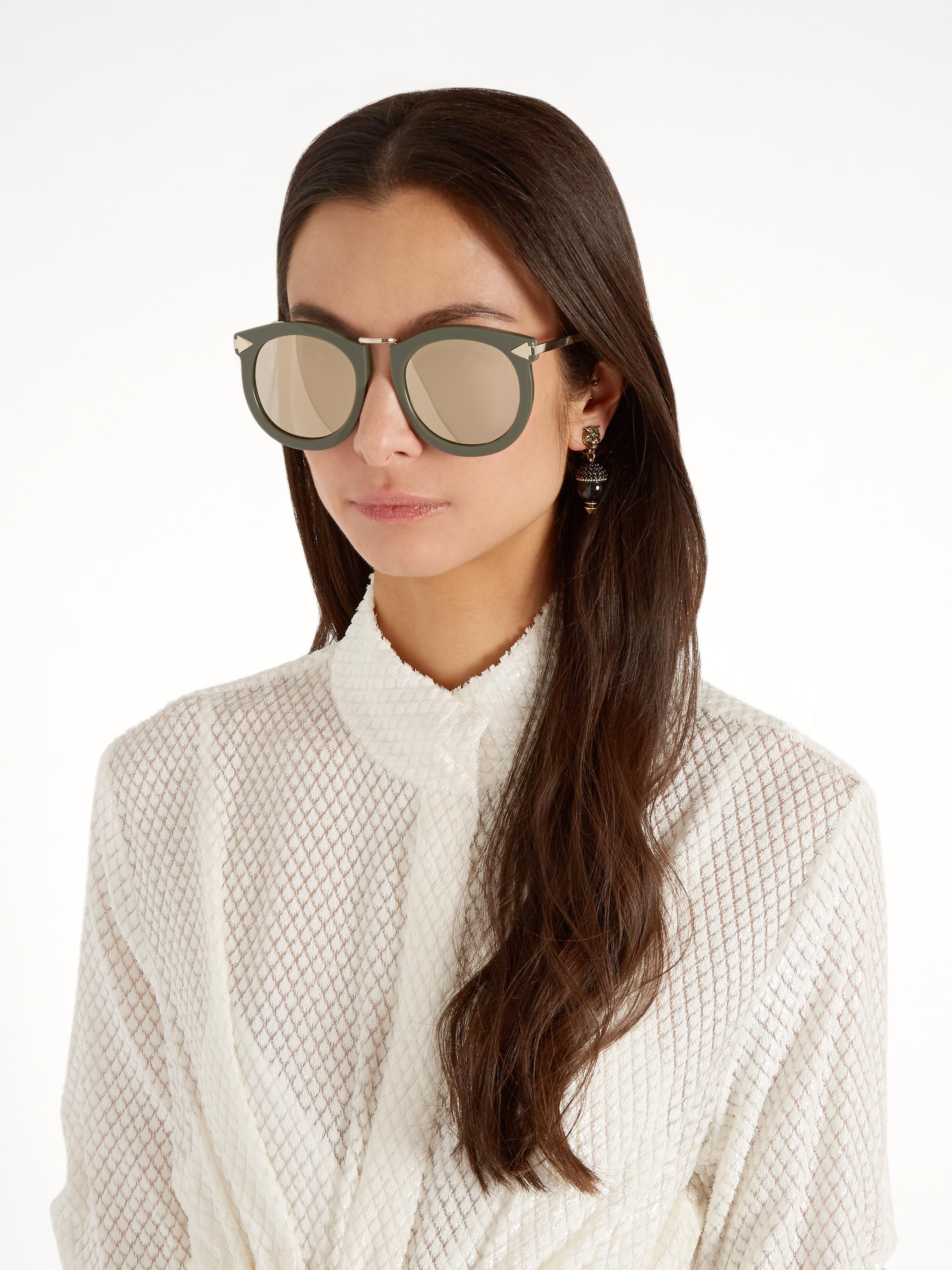f95f3c89802a Lyst - Karen Walker Super Lunar Oversized Sunglasses in Natural
