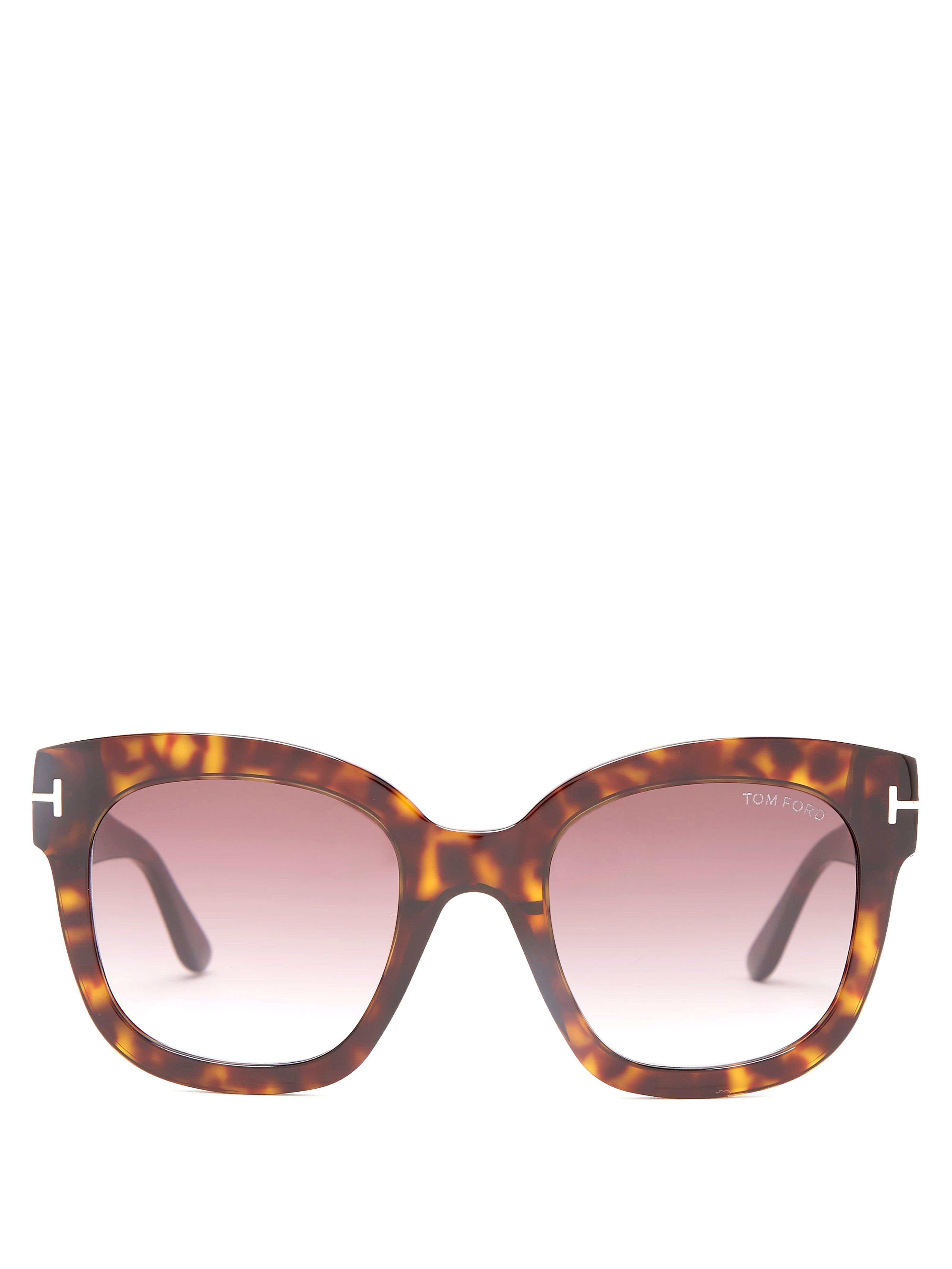 Tom Ford - Brown Lunettes de soleil oversize en acétate Beatrix - Lyst.  Afficher en plein écran 2f62bf99888d