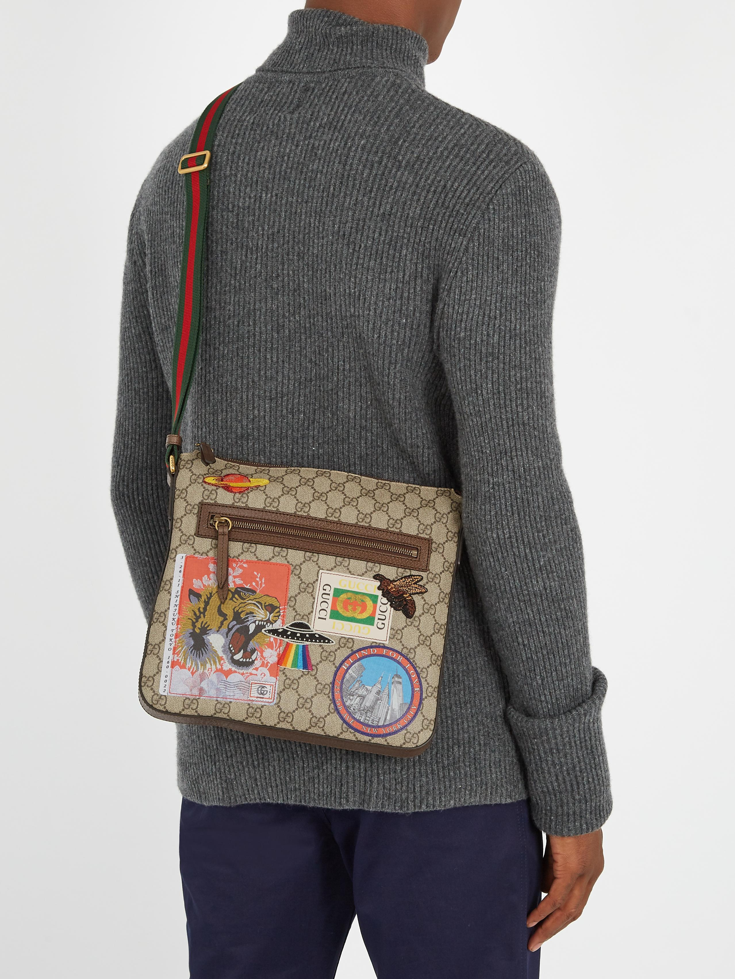 1ce762830 Gucci Courrier Gg Supreme Messenger Bag in Brown for Men - Lyst