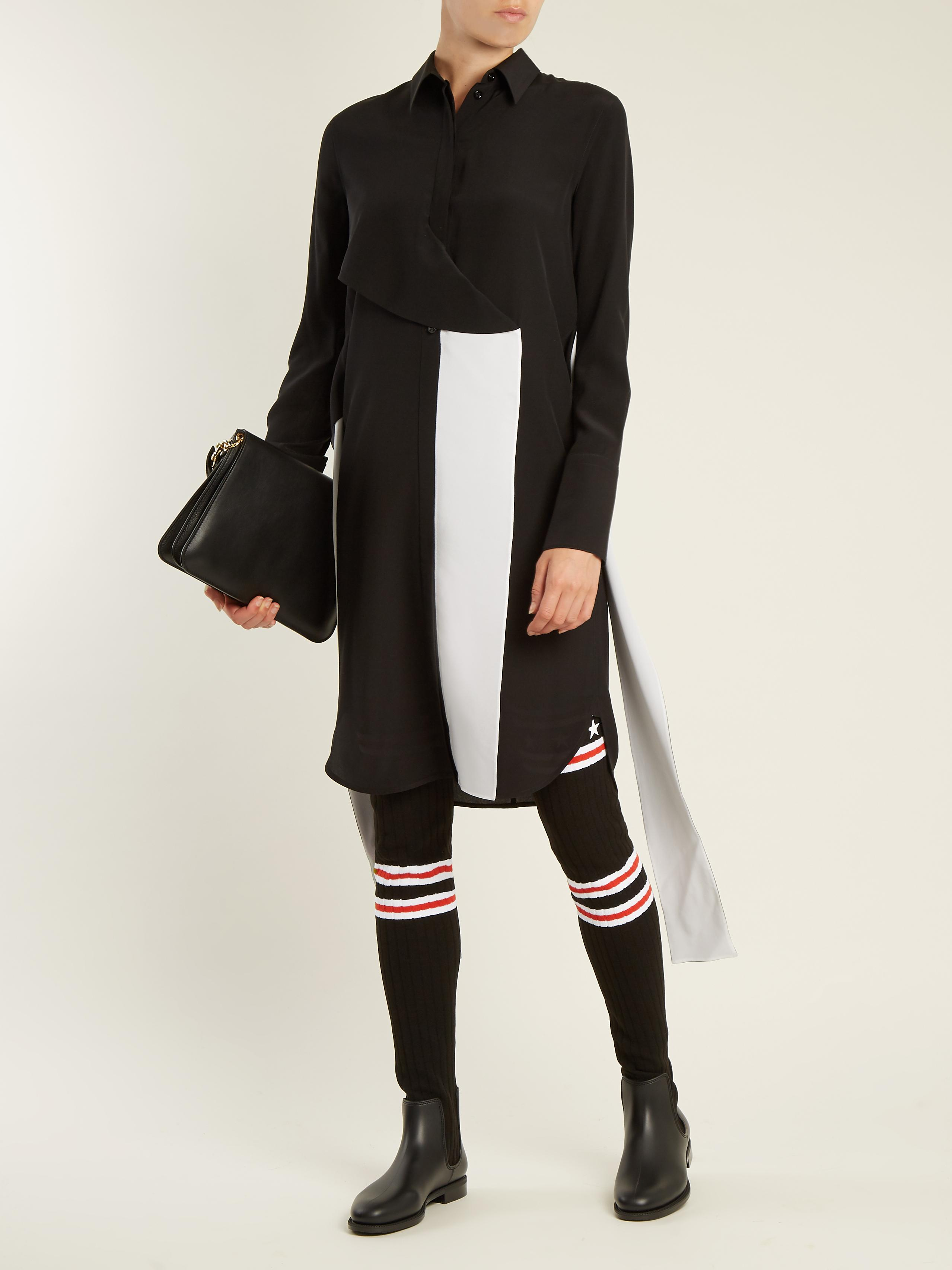 b3b6a74f9b9b Lyst - Givenchy Storm Striped-knit Over-the-knee Boots in Black