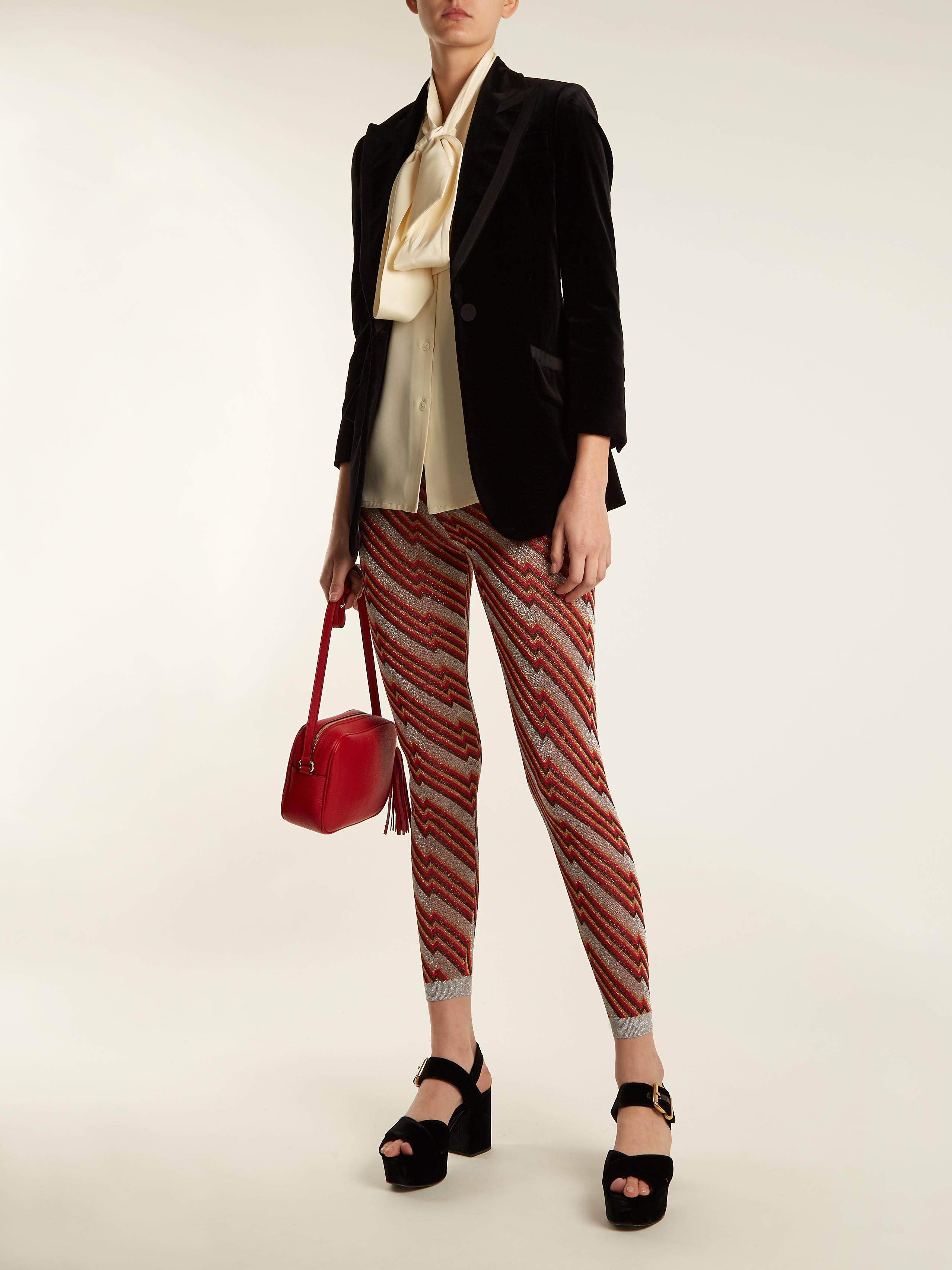 85abea0a23af https   www.lyst.com clothing gucci-diagonal-jacquard-leggings  2018 ...
