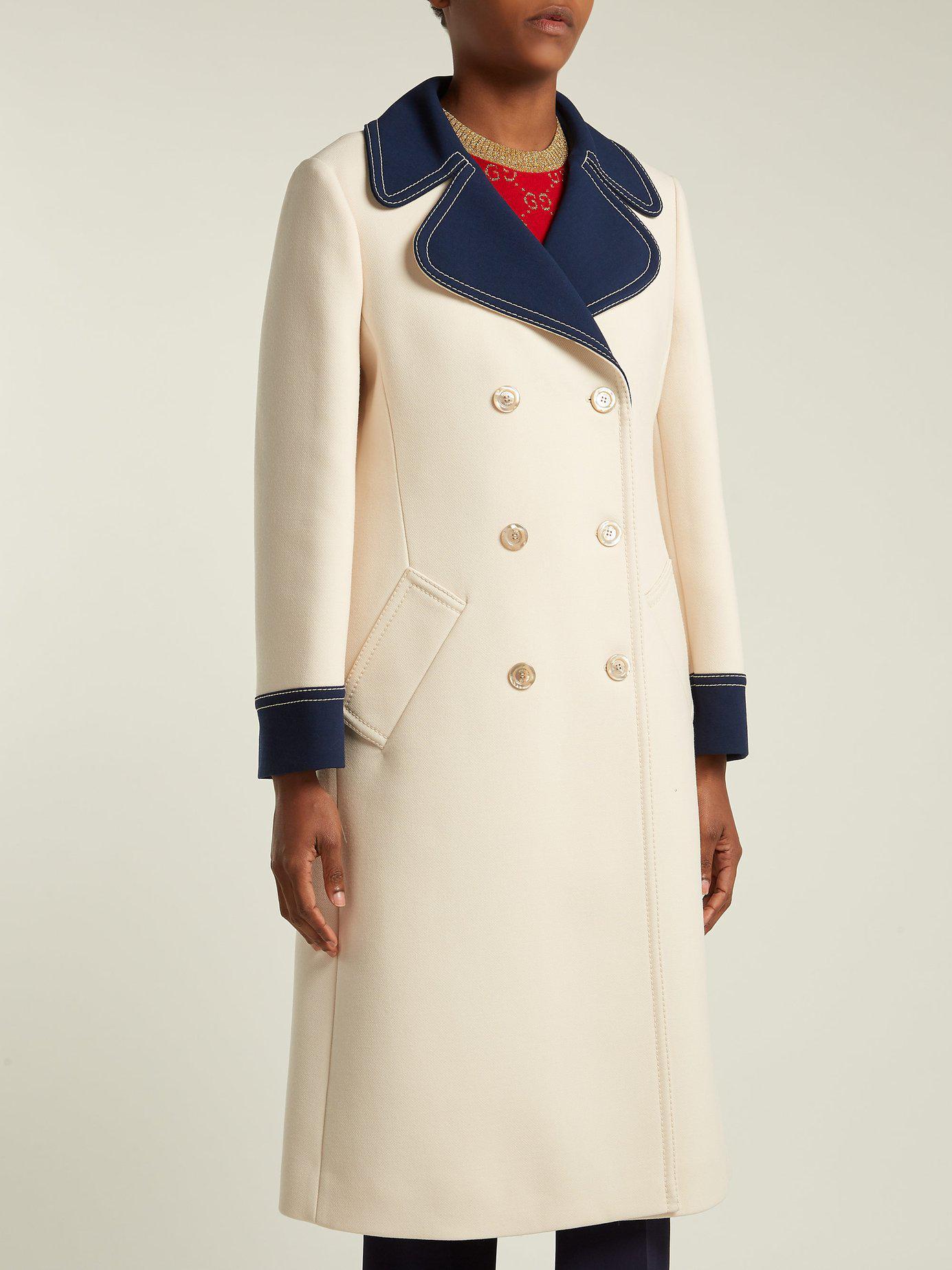 cc682123869cd Gucci - White Gardenia Wool Coat - Lyst. View fullscreen