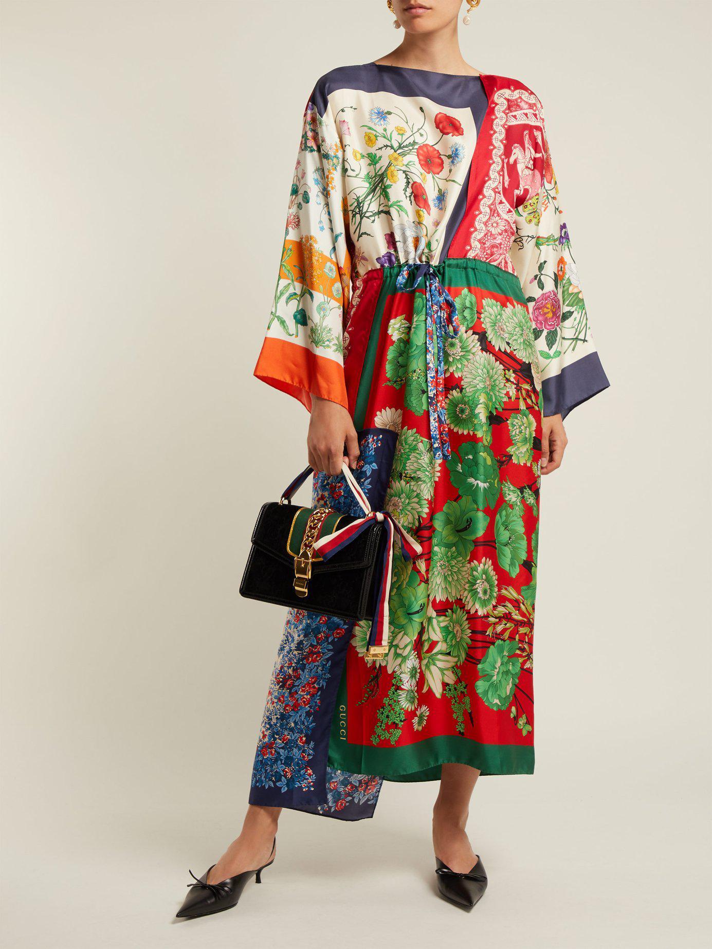 86fac306cdd Lyst - Gucci Sylvie Small Velvet Shoulder Bag in Black
