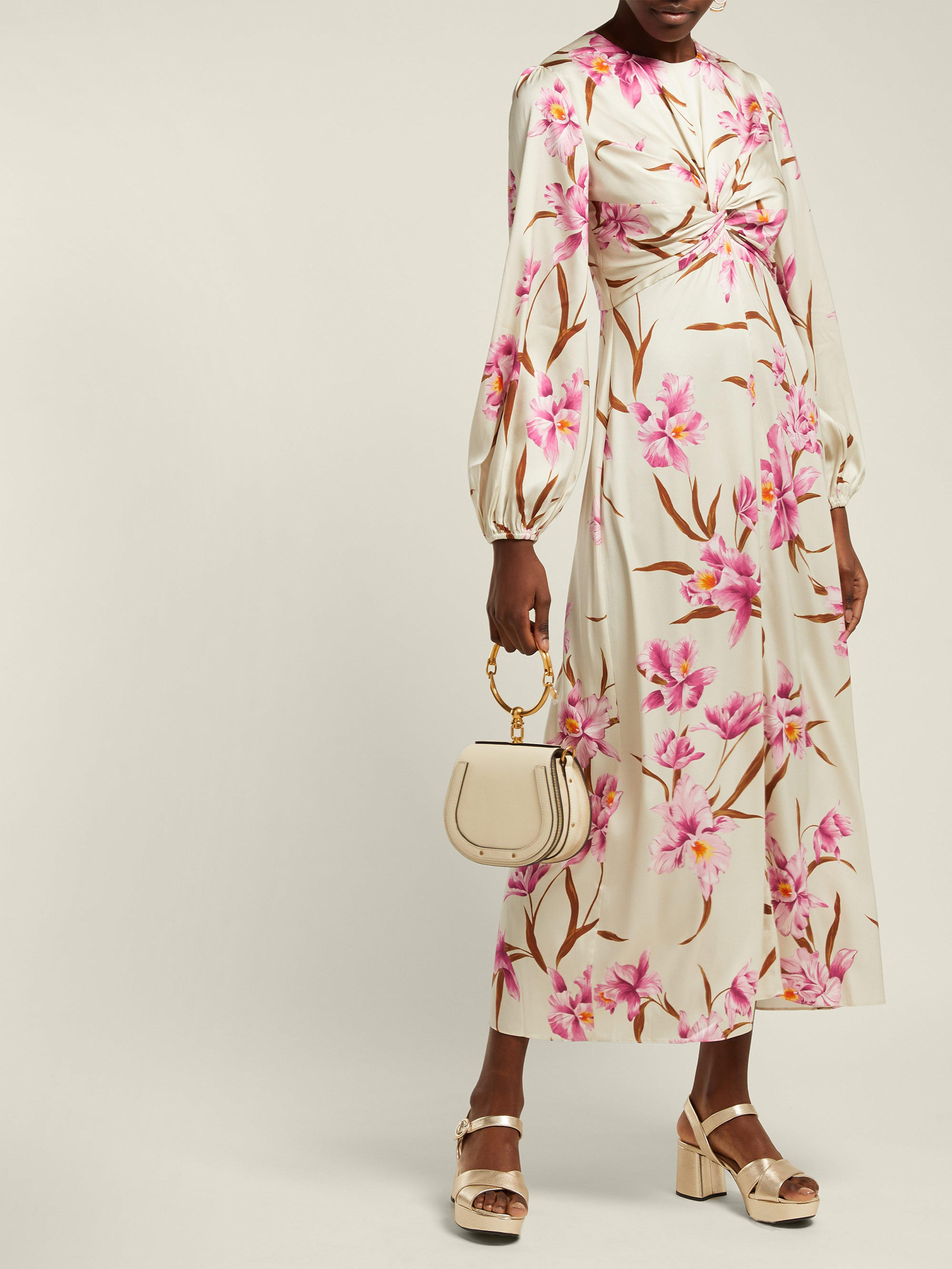 63f426fd51 Zimmermann - Pink Corsage Orchid Print Silk Blend Midi Dress - Lyst. View  fullscreen