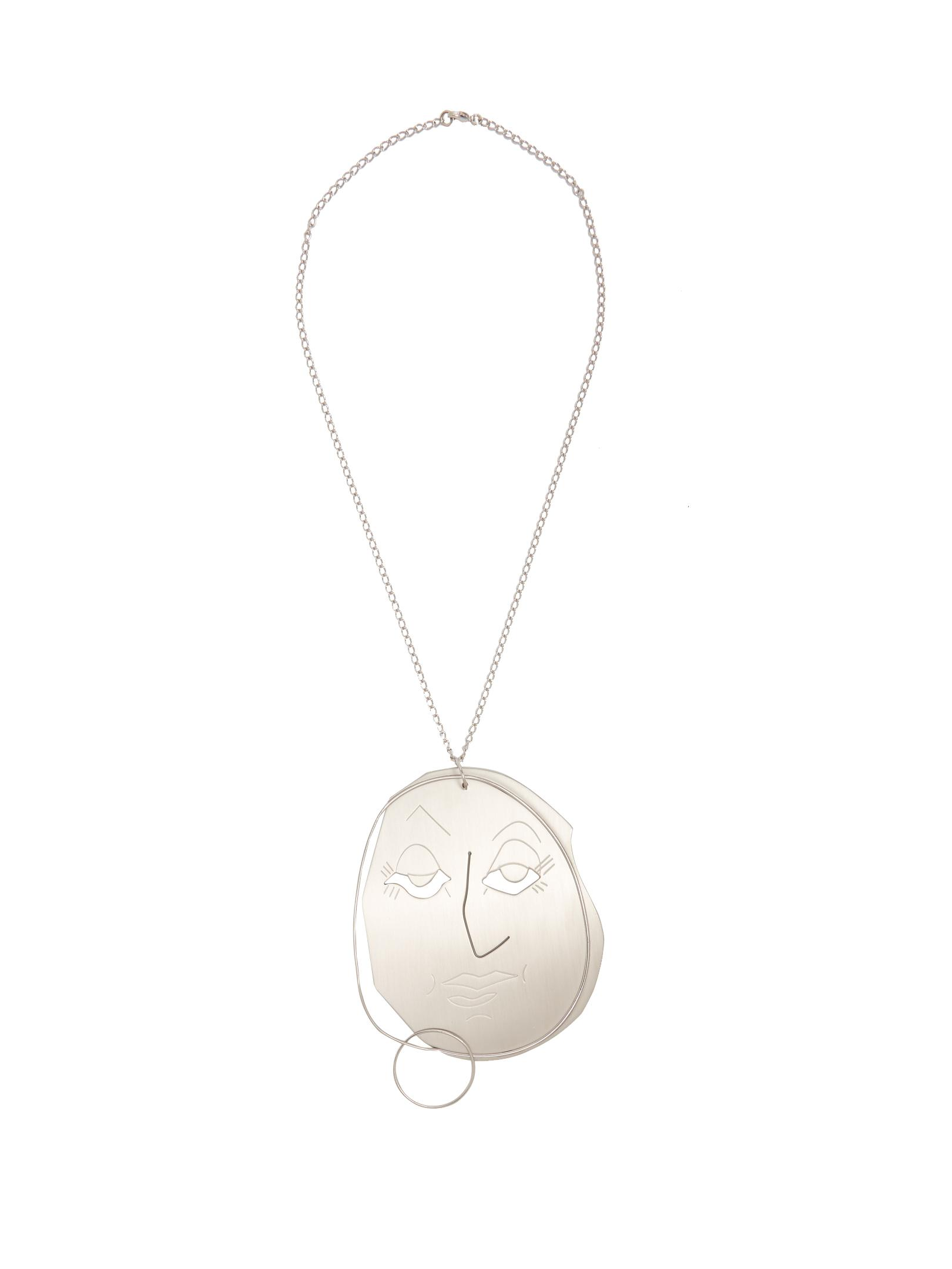 J.W.Anderson double ball pendant necklace - Metallic qfzx0L