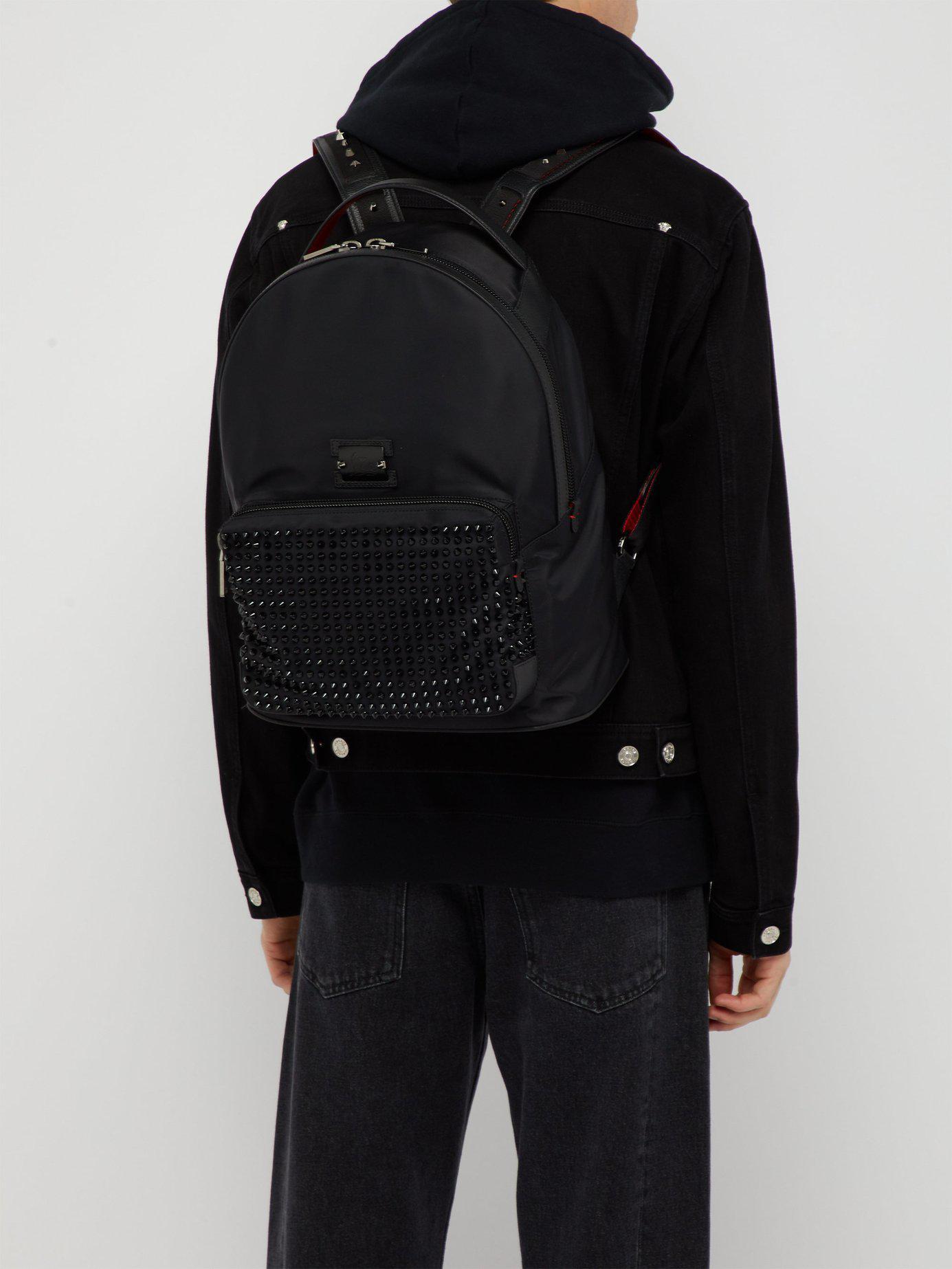 8ac9997eafc Lyst - Christian Louboutin Backloubi Spikes Nylon Backpack in Black for Men