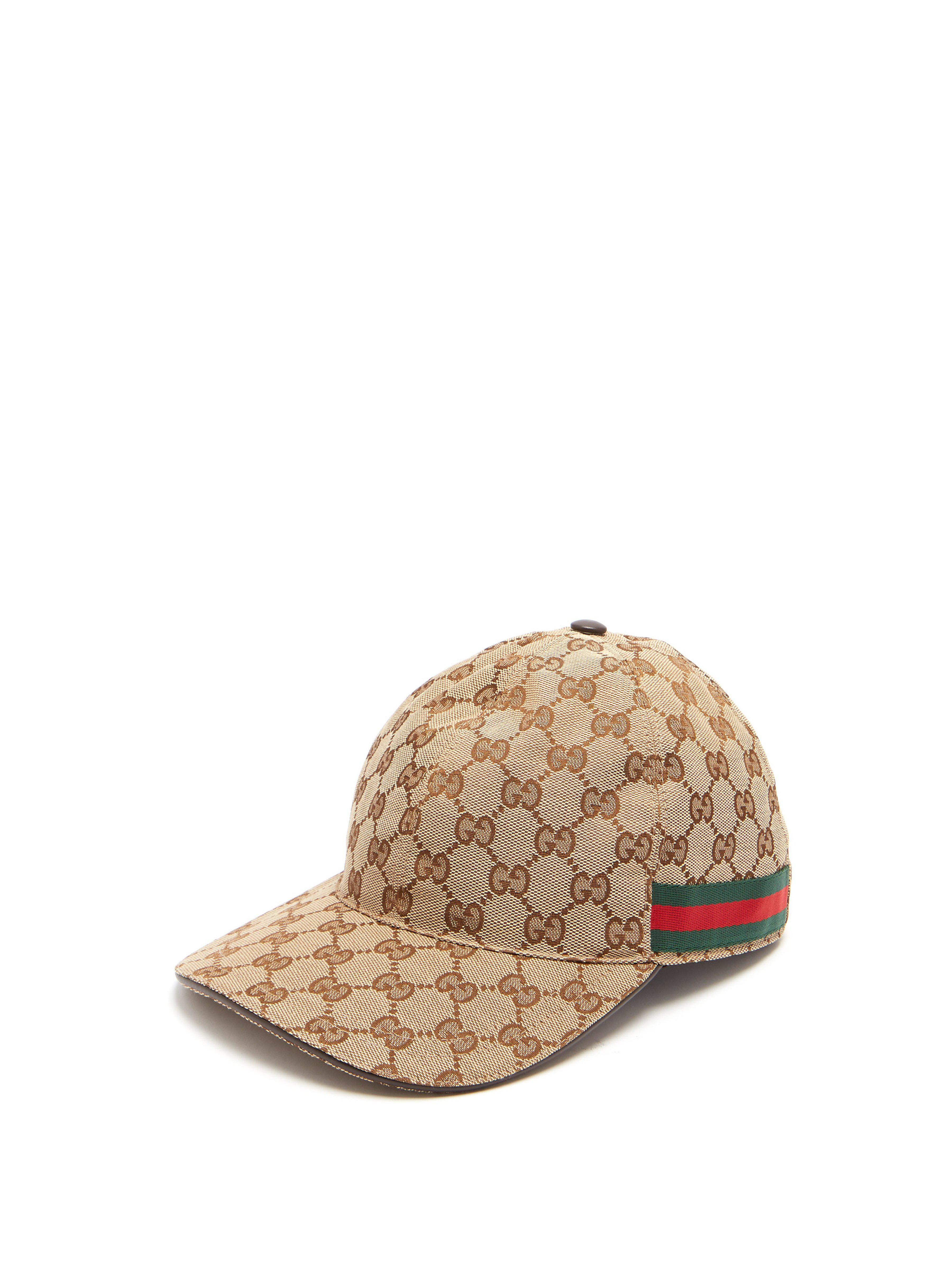 Gucci Web Stripe Gg Logo Baseball Cap in Natural for Men - Lyst 4d6850b0be81