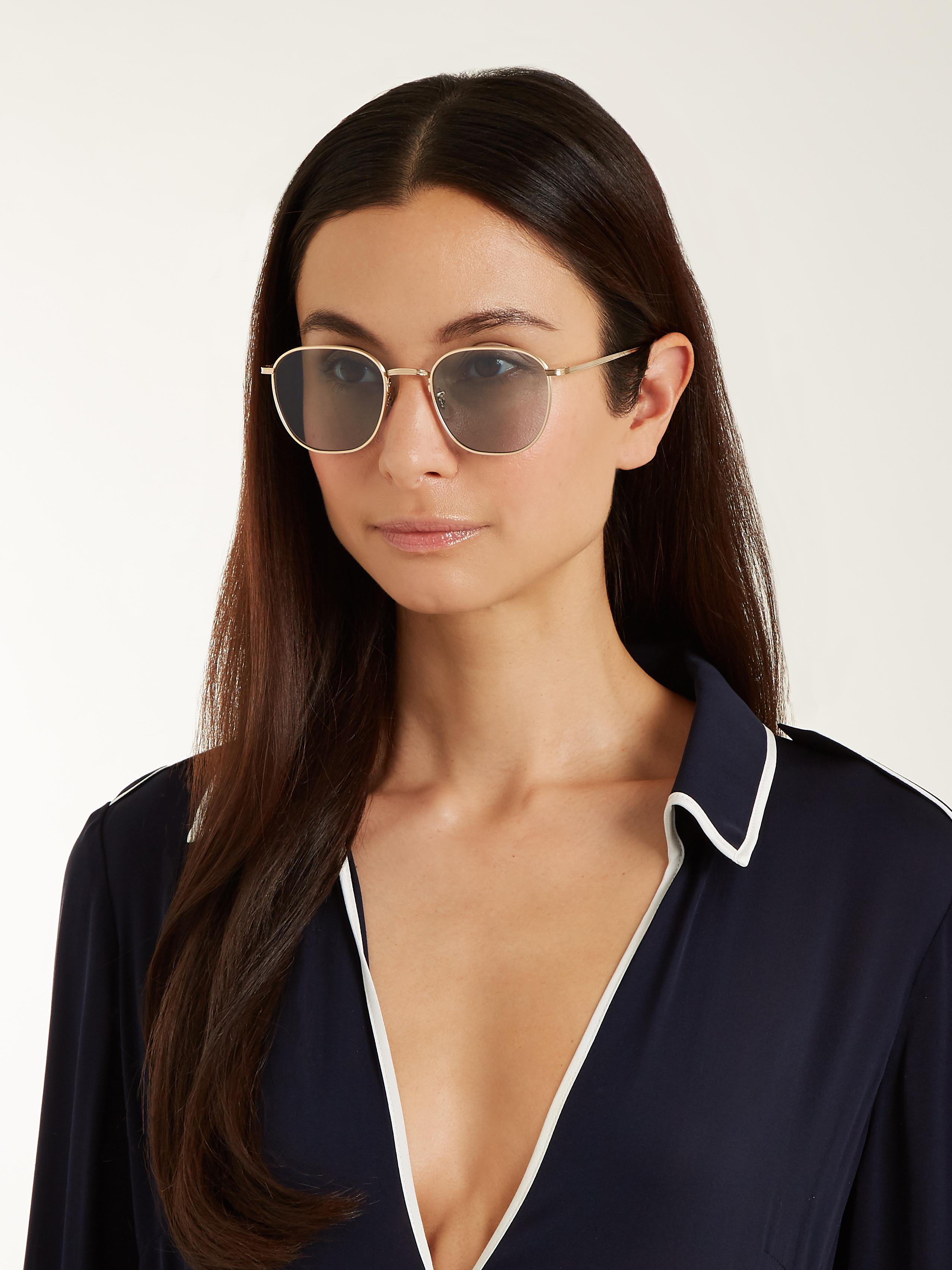 411b94bb02b Lyst - The Row X Oliver Peoples Board Meeting 2 Sunglasses in Metallic