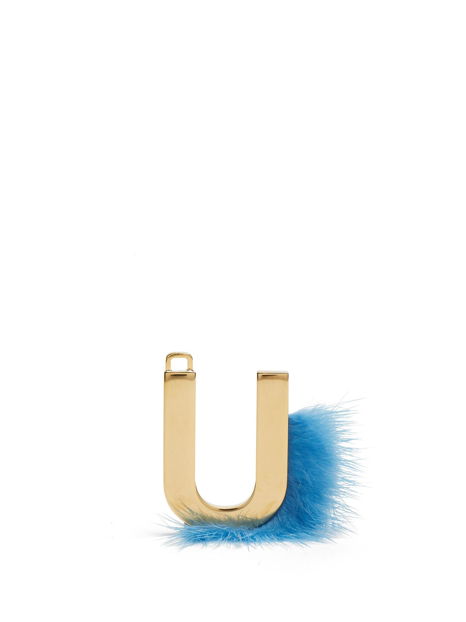 bf383209c849 Lyst - Fendi Abclick Letter  u  Key Charm in Metallic