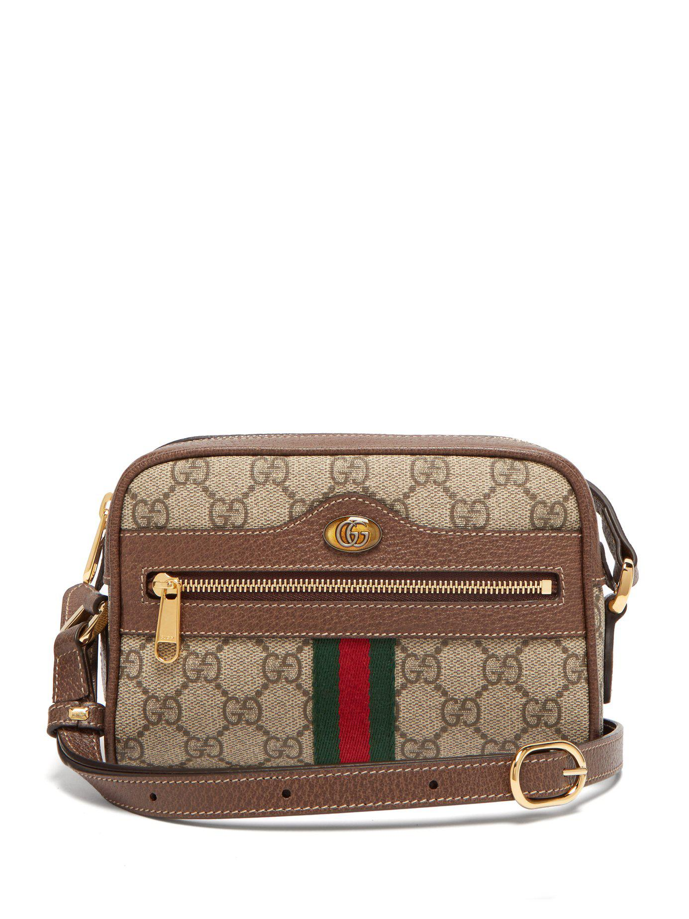 b3d2f966cbd Lyst - Gucci Ophidia Gg Supreme Cross Body Mini Bag in Gray