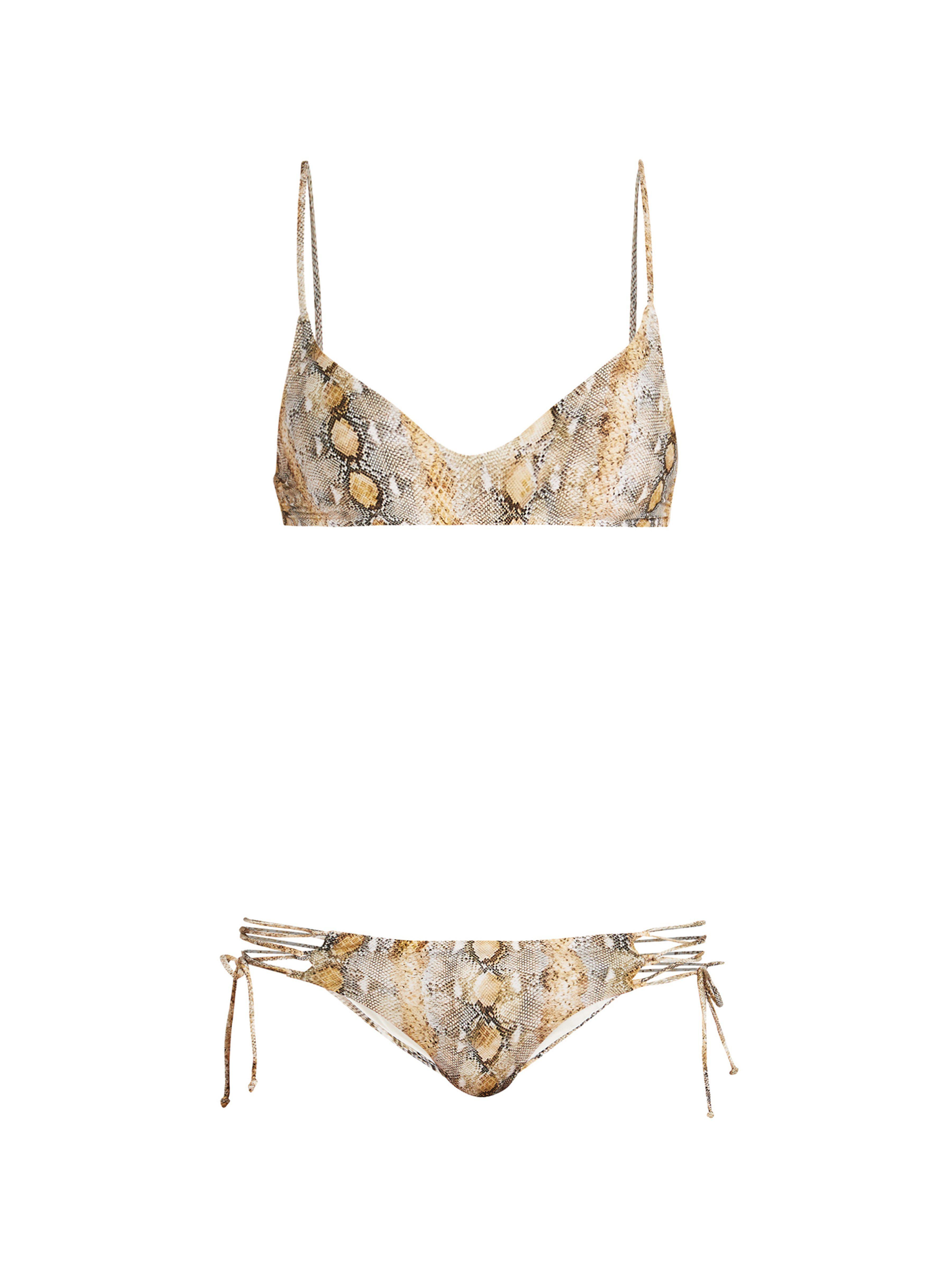 98fc111a45f Melissa Odabash Elba Python Print Bikini - Lyst