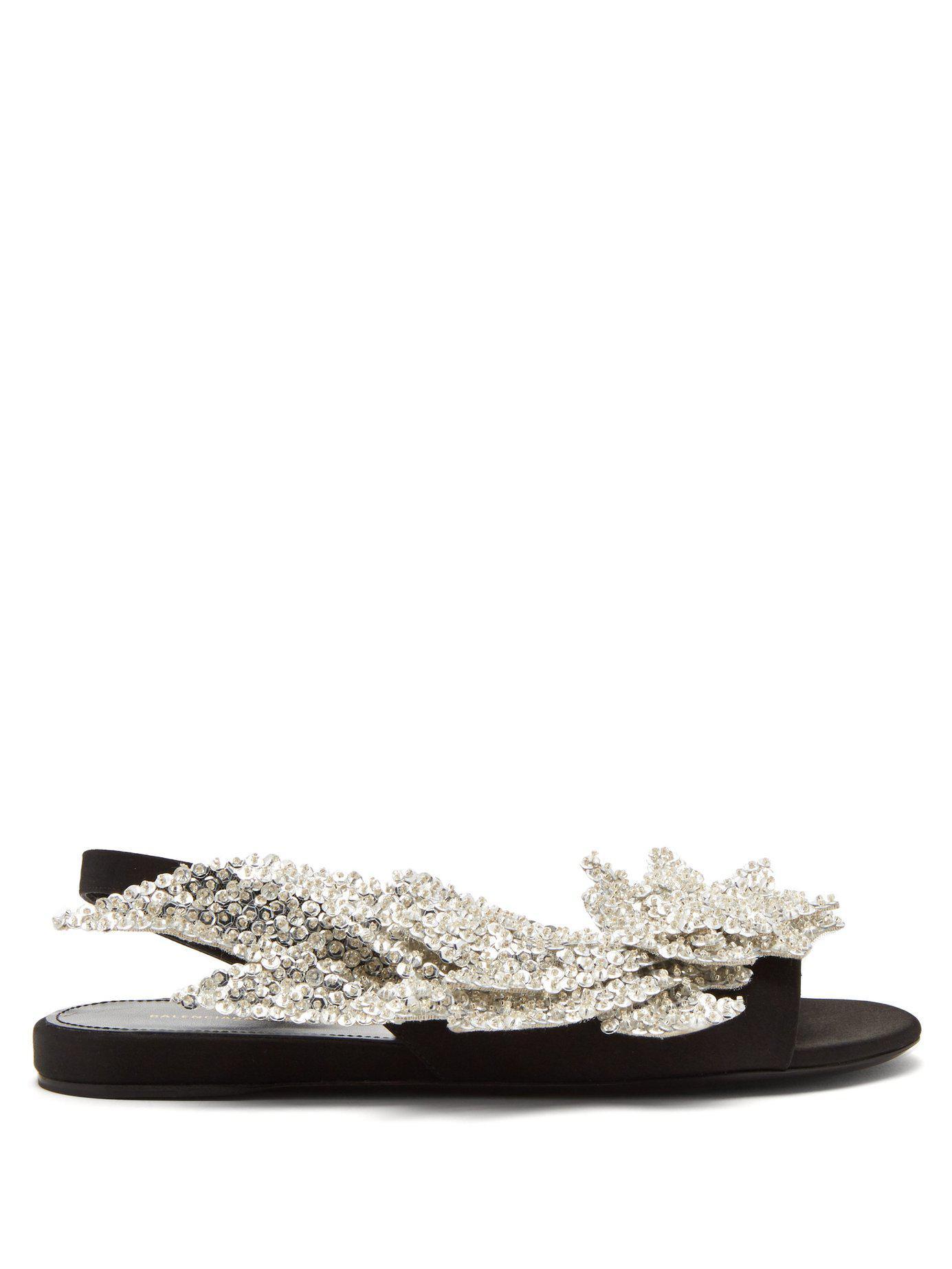 1d3baae5ca964 Lyst - Balenciaga Slash Flat Sandals in Black