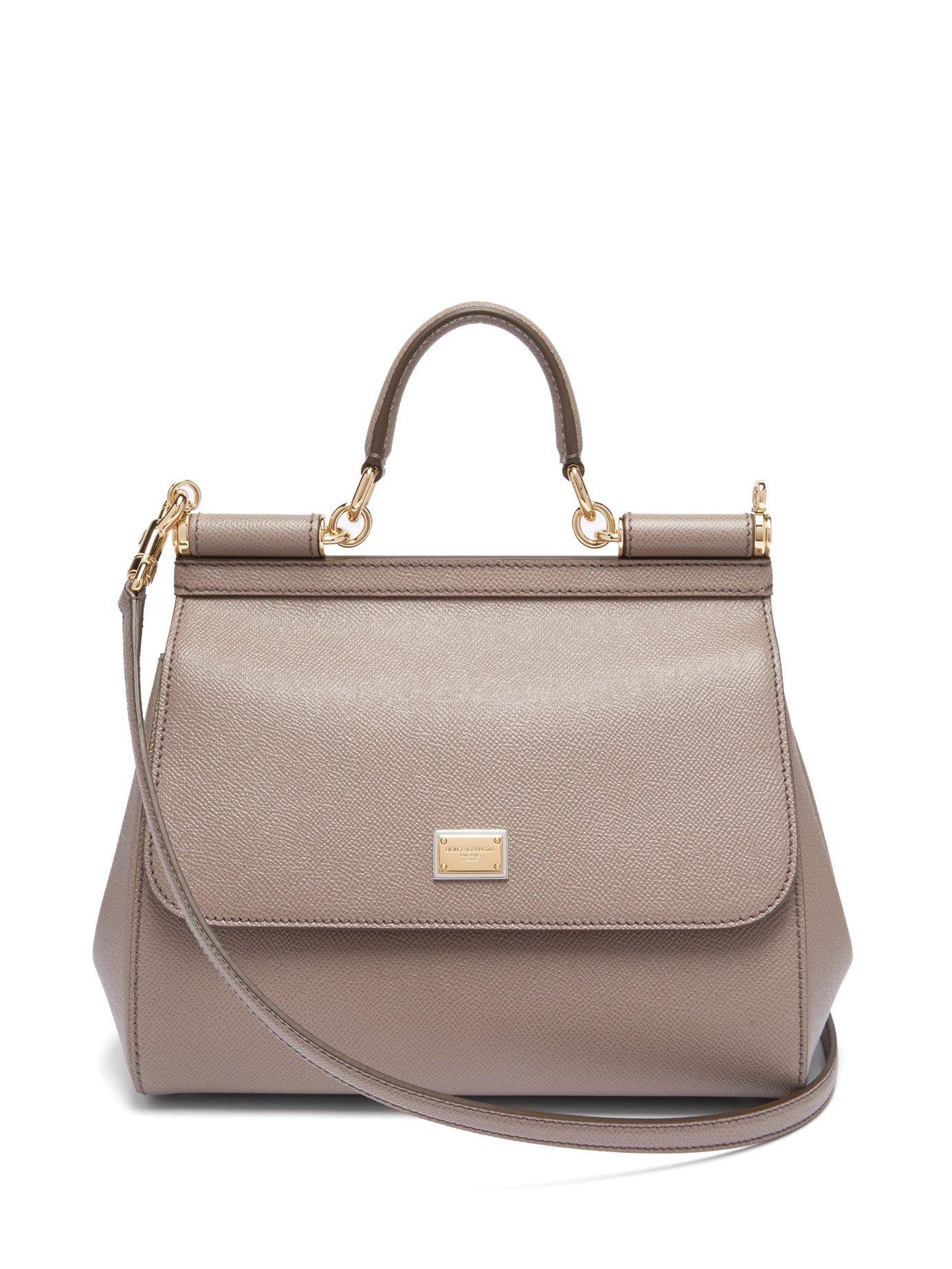 Lyst - Dolce   Gabbana Sicily Medium Dauphine Leather Bag in Gray 3bf7dcb72f