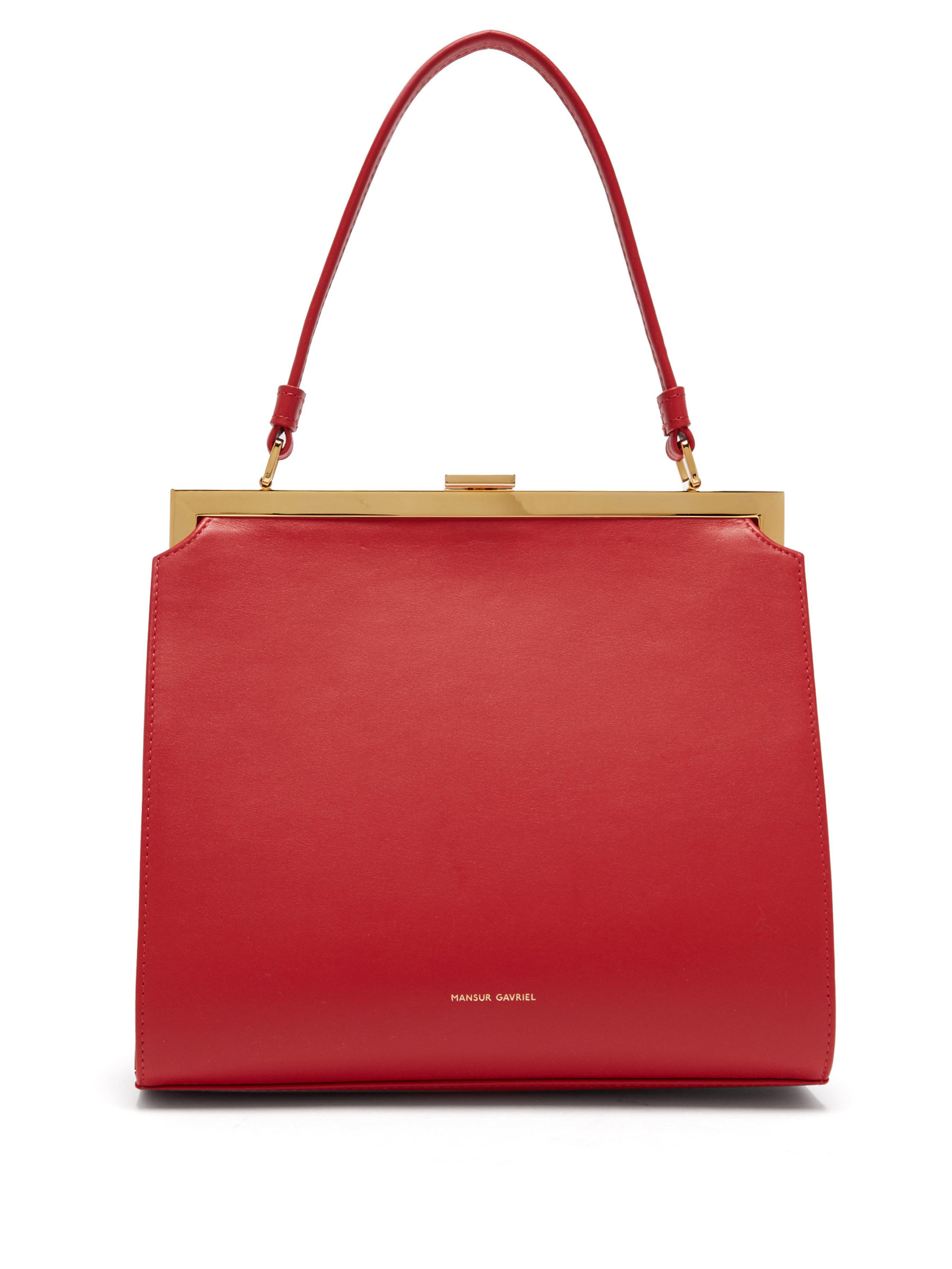 e1aa4685dcec Mansur Gavriel - Red Elegant Leather Bag - Lyst. View fullscreen