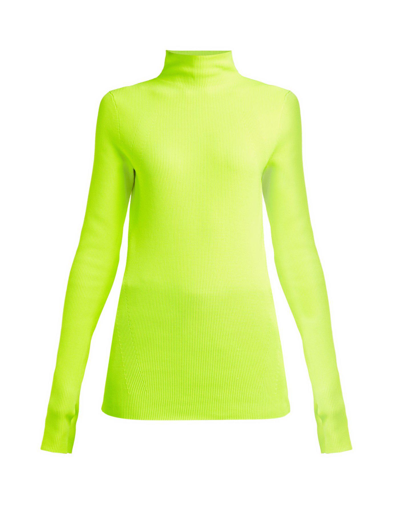 f8a9c812757def Lyst - Helmut Lang Essential Knit Top in Green - Save 33%