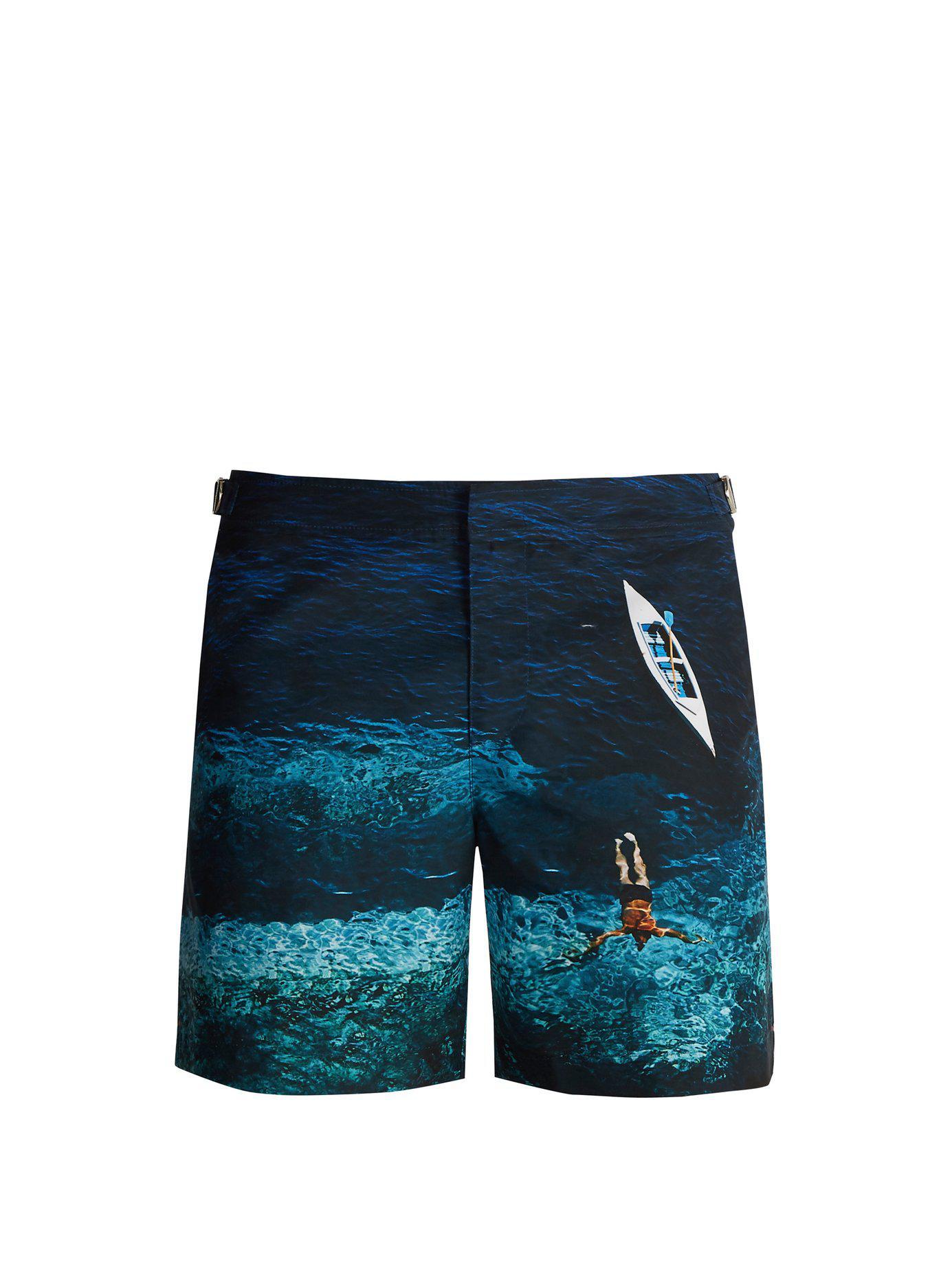 e3b4c54cdecf2 Lyst - Orlebar Brown Bulldog Photographic Wave-print Swim Shorts in ...