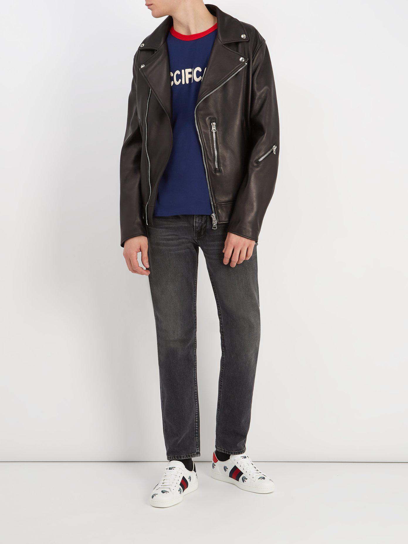 146369faf8e Lyst - T-shirt en coton à bandes Web fication Gucci pour homme en ...