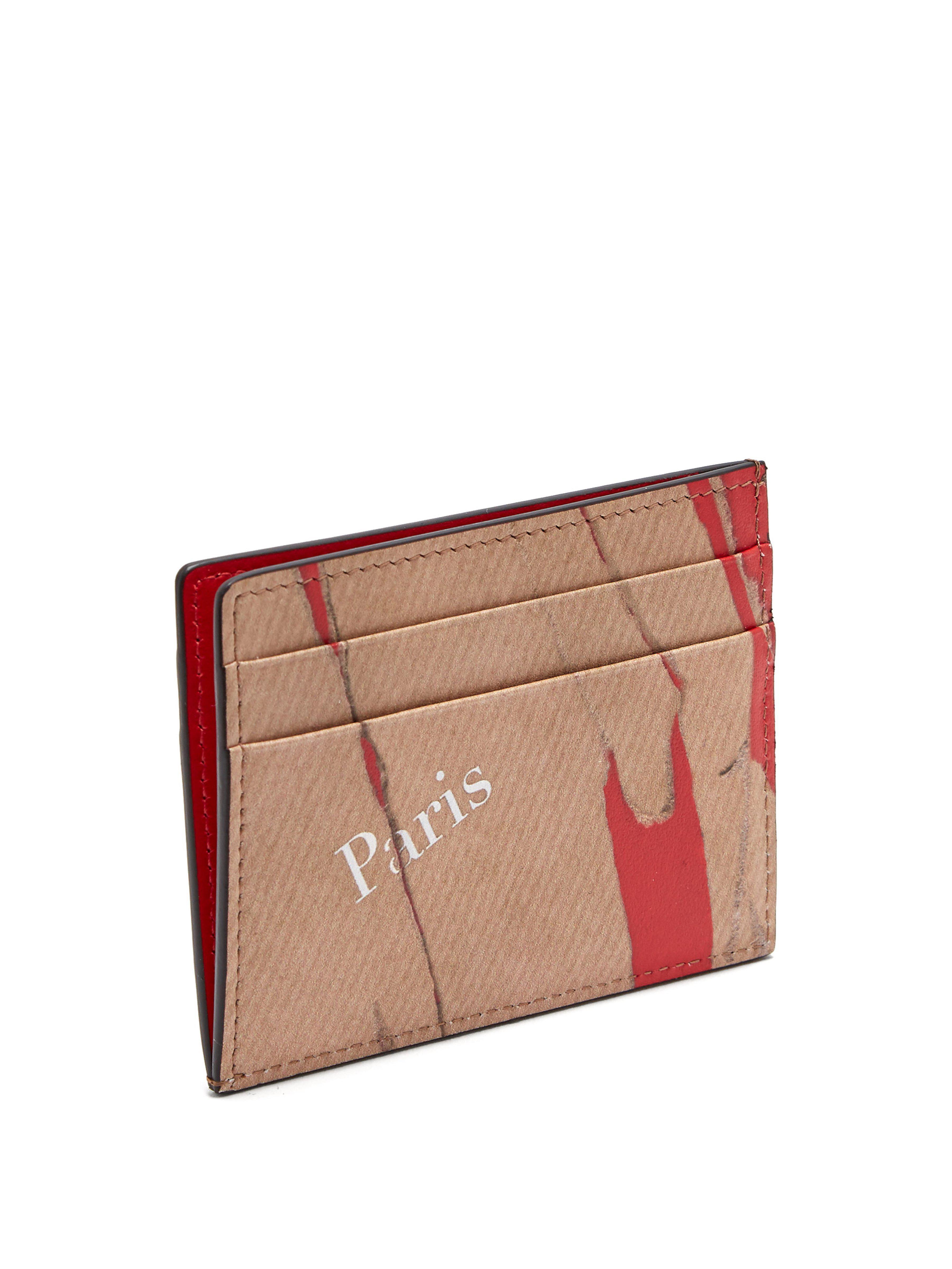 52d608c42b3 Christian Louboutin Kraft Kios Smooth Leather Cardholder in Natural ...