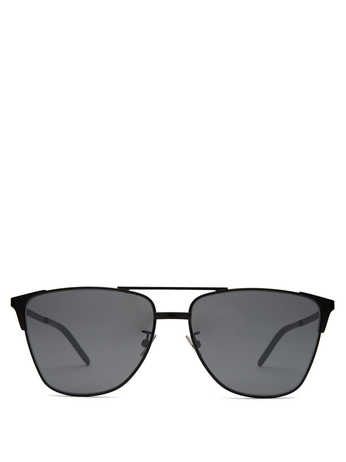 9f6f5275333d Lyst - Saint Laurent D Frame Metal Sunglasses in Metallic for Men