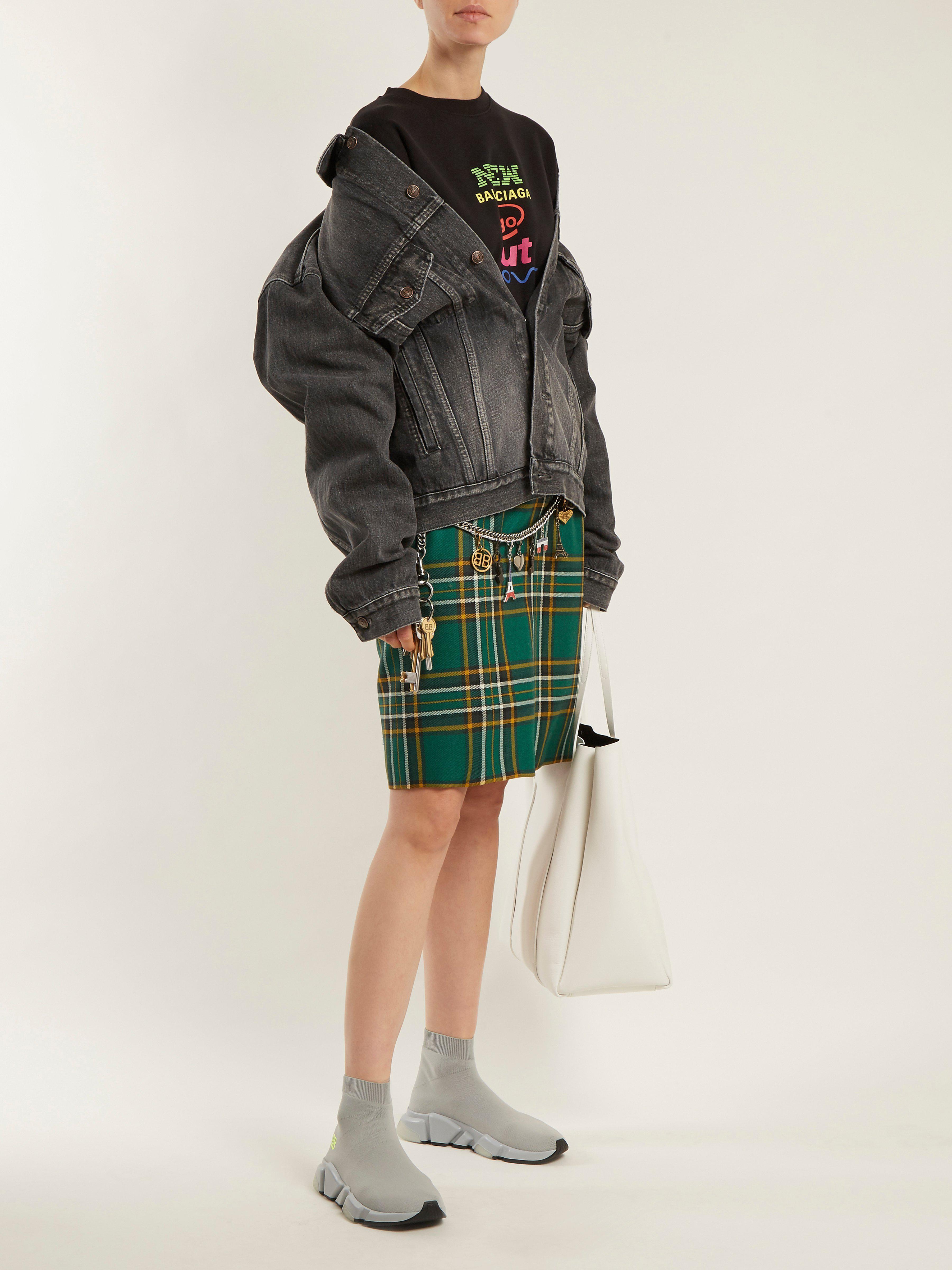 81e267c85daa Balenciaga Light Grey Speed Knit Slip-on Sneakers in Gray - Save 8% - Lyst