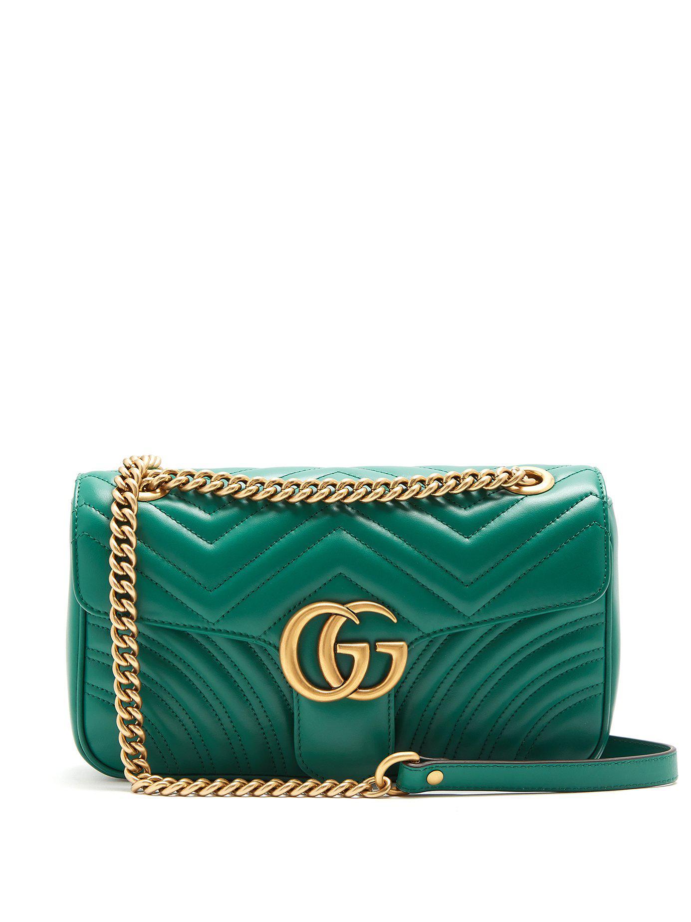 4a2742efa1f989 Gucci Women's GG Marmont Matelassé Mini Bag - Red in Green - Save 10 ...