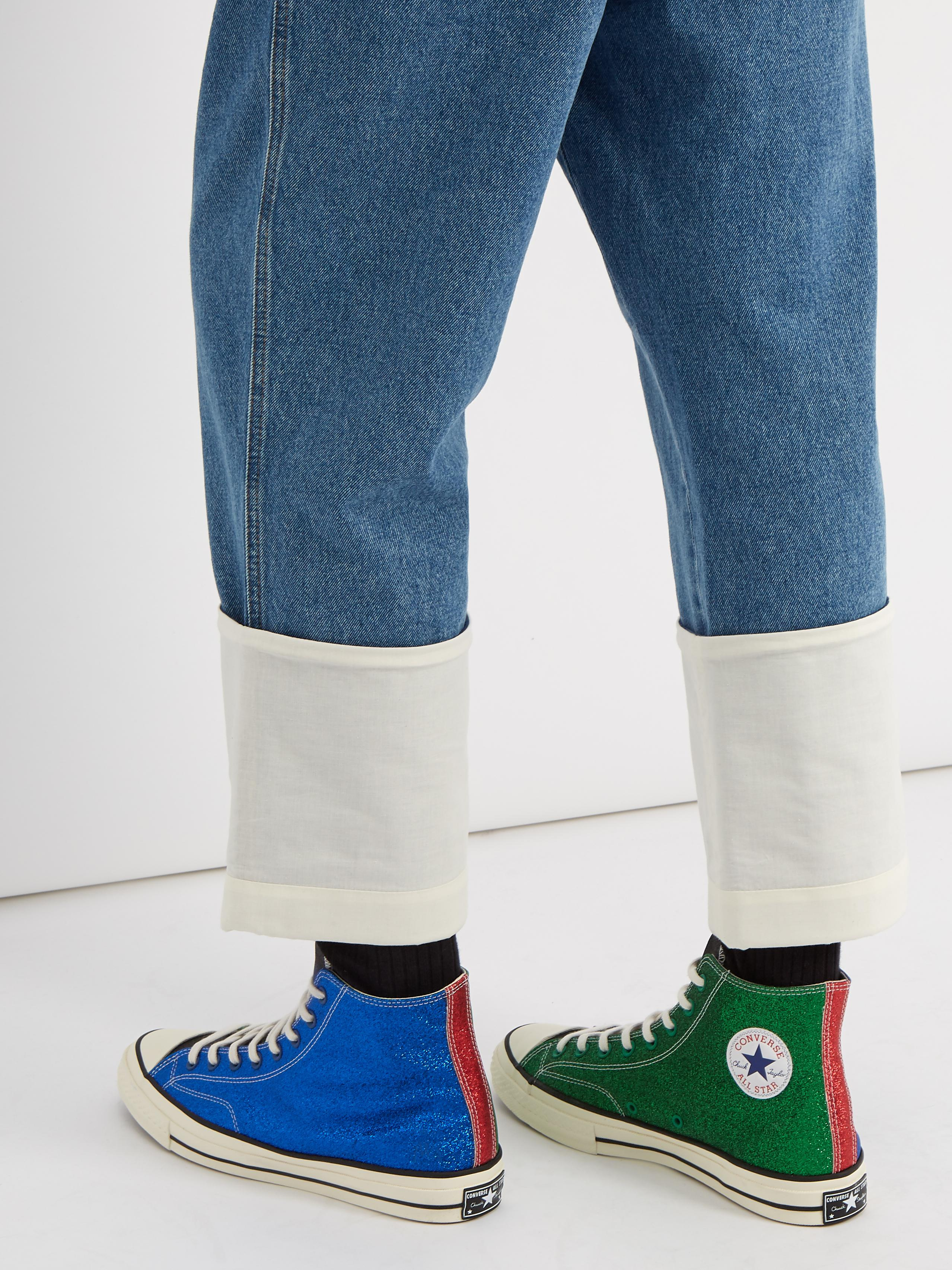 6d3ac84953f1 Lyst - Converse X Jw Anderson Glitter High-top Trainers in Blue for Men