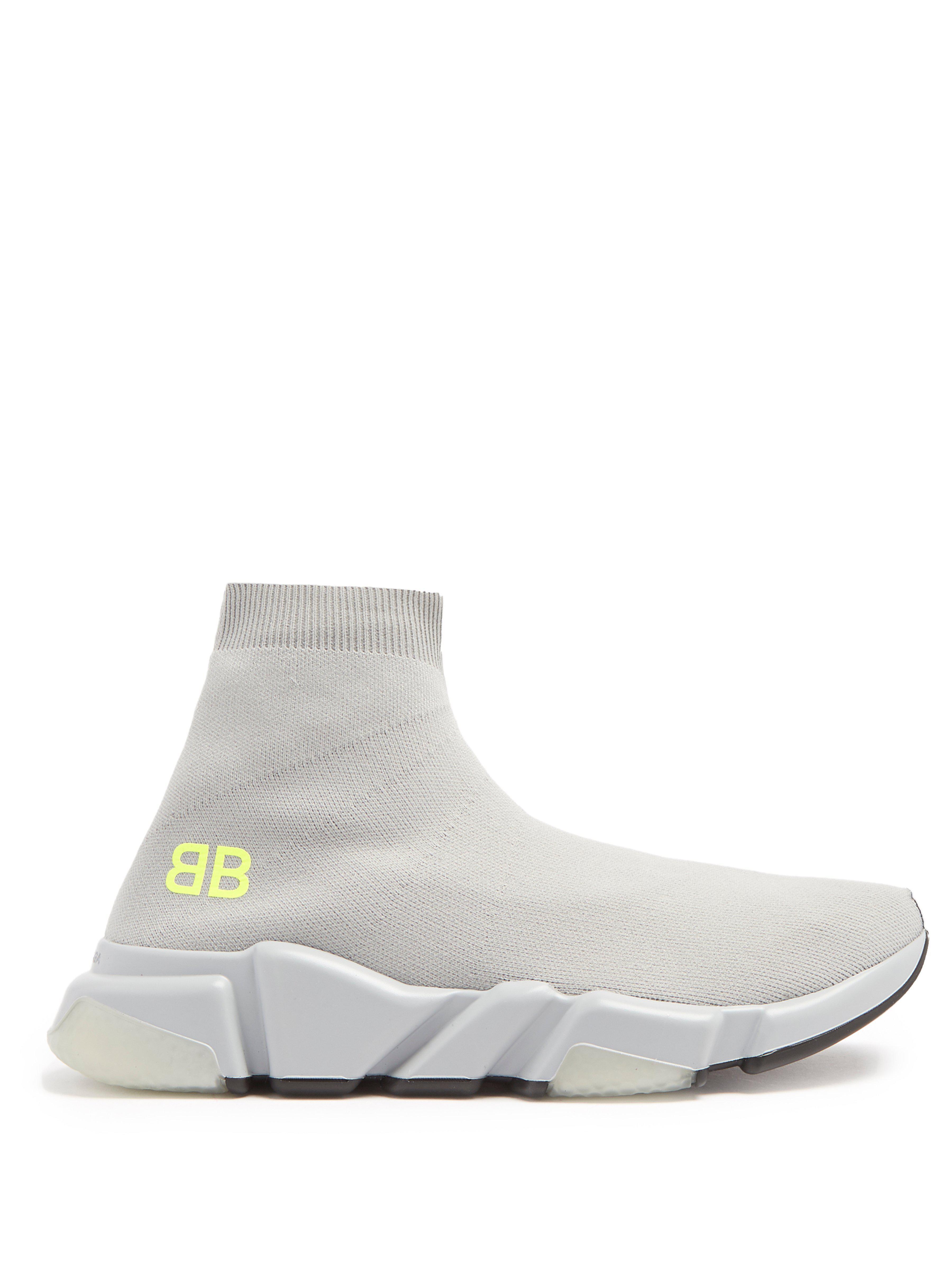 ba9c73bfc46 Lyst - Baskets montantes effet chaussette Speed Balenciaga - 2 % de ...
