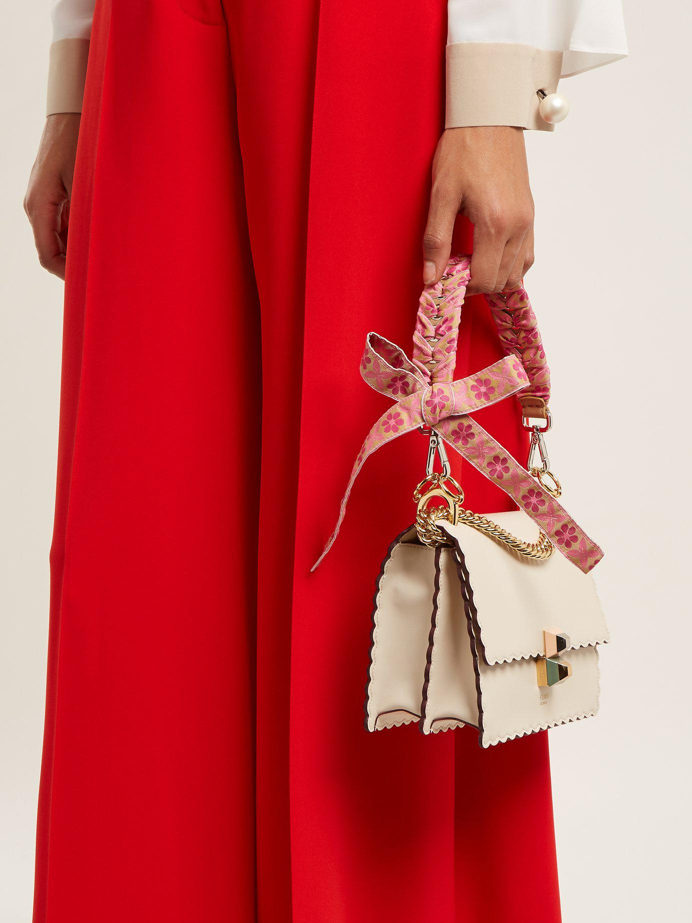 4332a5d6f543 Fendi - Pink Strap You Whipstitched Ribbon Short Bag Strap - Lyst. View  fullscreen