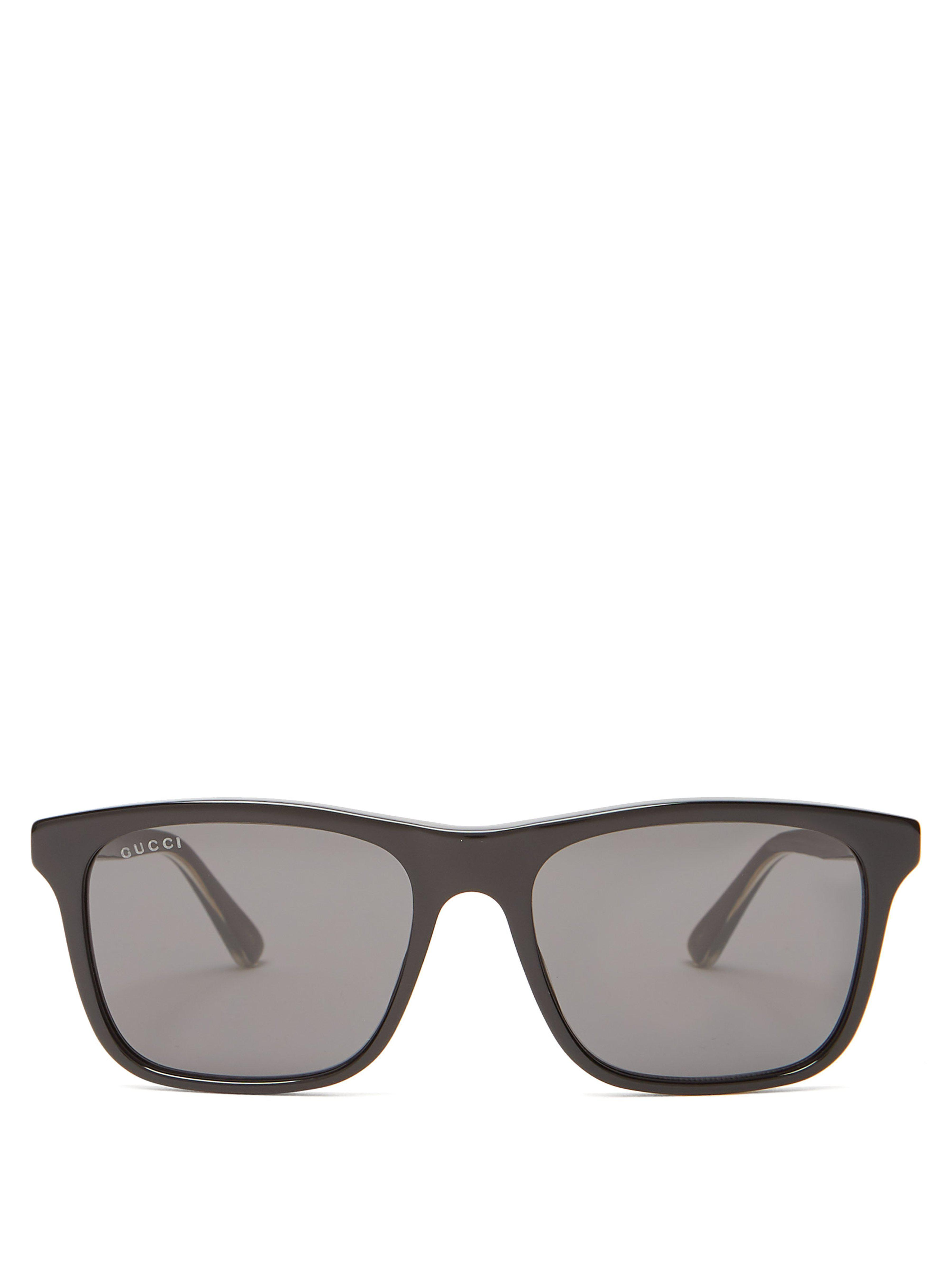 e29dd5ea063 Gucci - Black Square Frame Acetate Sunglasses for Men - Lyst. View  fullscreen