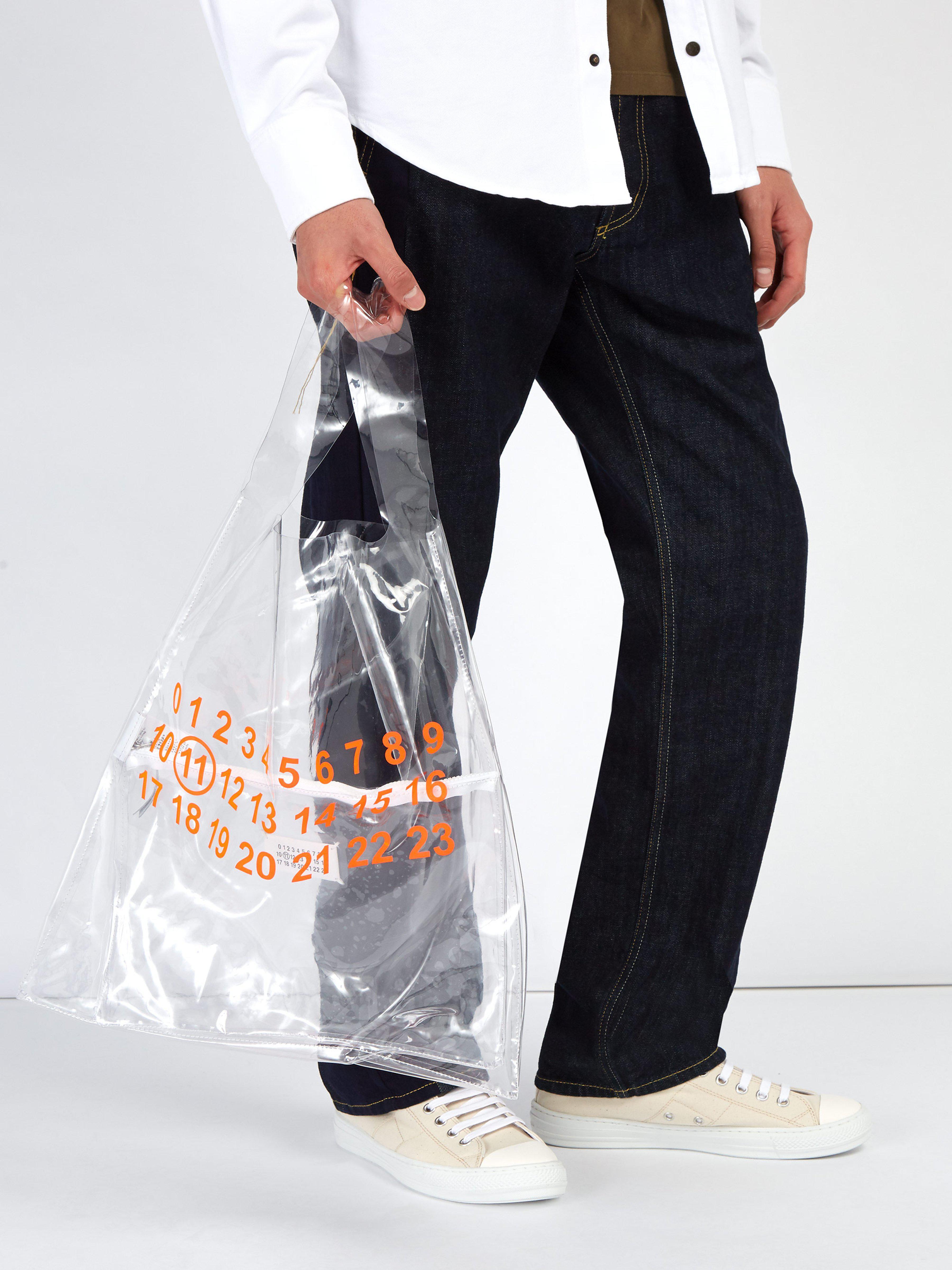 dc30905cad Sac de shopping transparent Maison Margiela pour homme en coloris Orange -  Lyst