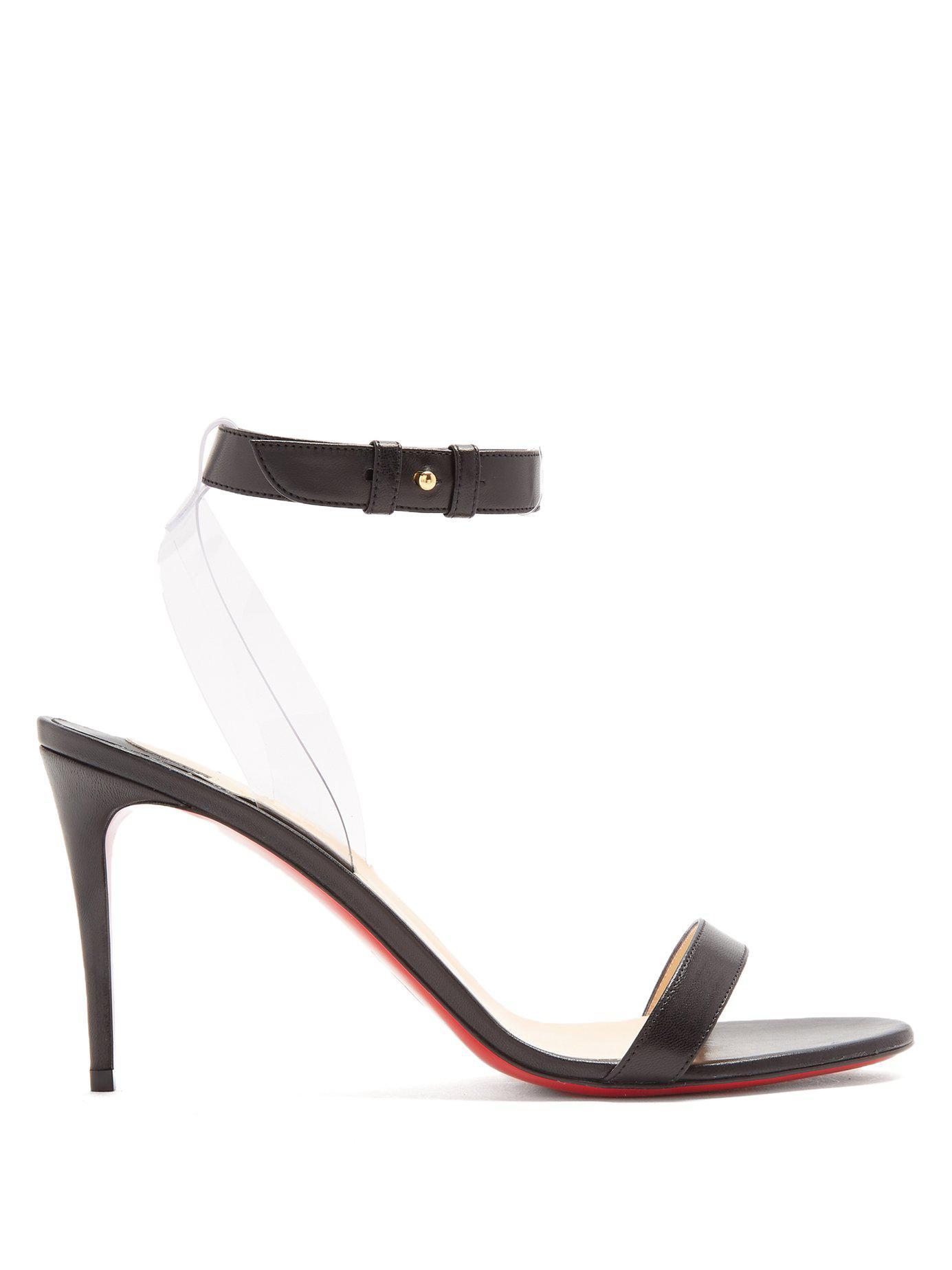6e077c67038b Lyst - Christian Louboutin Jonatina 85mm Leather Sandals in Black